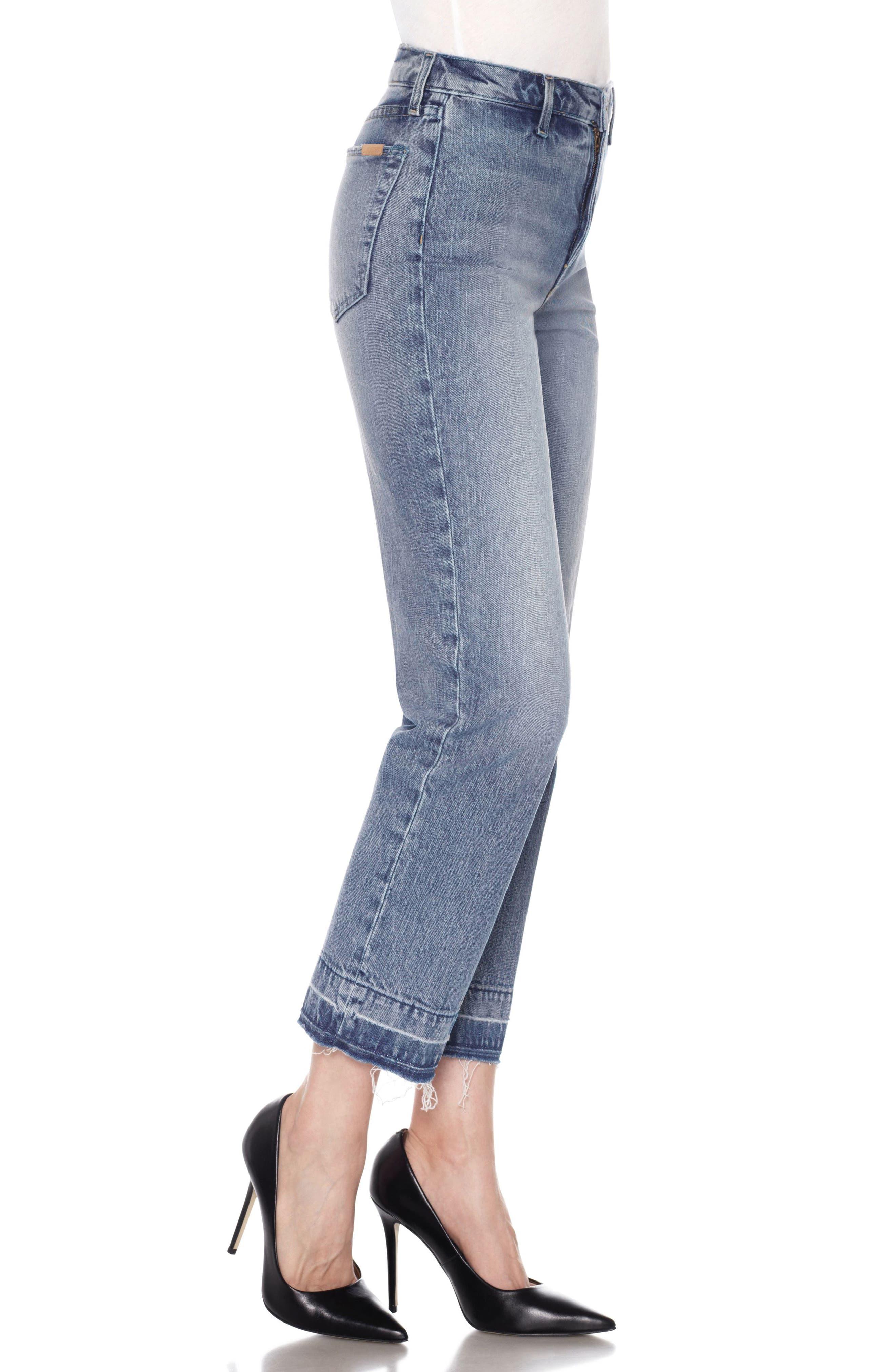 Jane Crop Slim Boyfriend Jeans,                             Alternate thumbnail 3, color,                             415