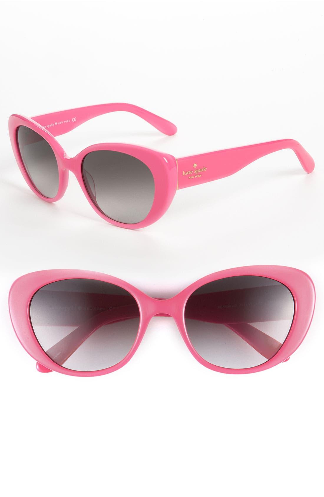 'franca 2' retro sunglasses,                             Main thumbnail 6, color,