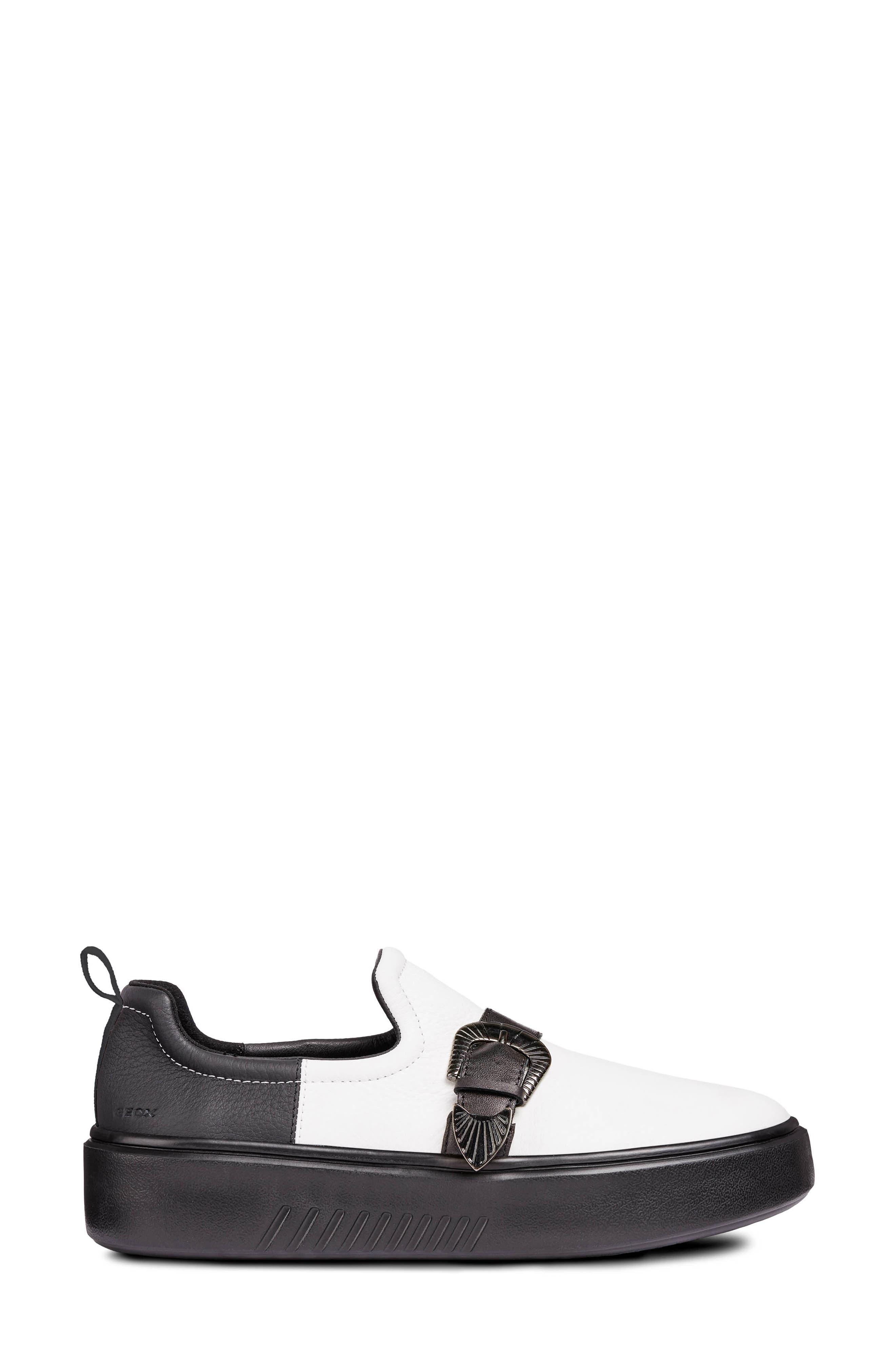 Nhenbus Platform Sneaker,                             Alternate thumbnail 3, color,                             WHITE/ BLACK LEATHER