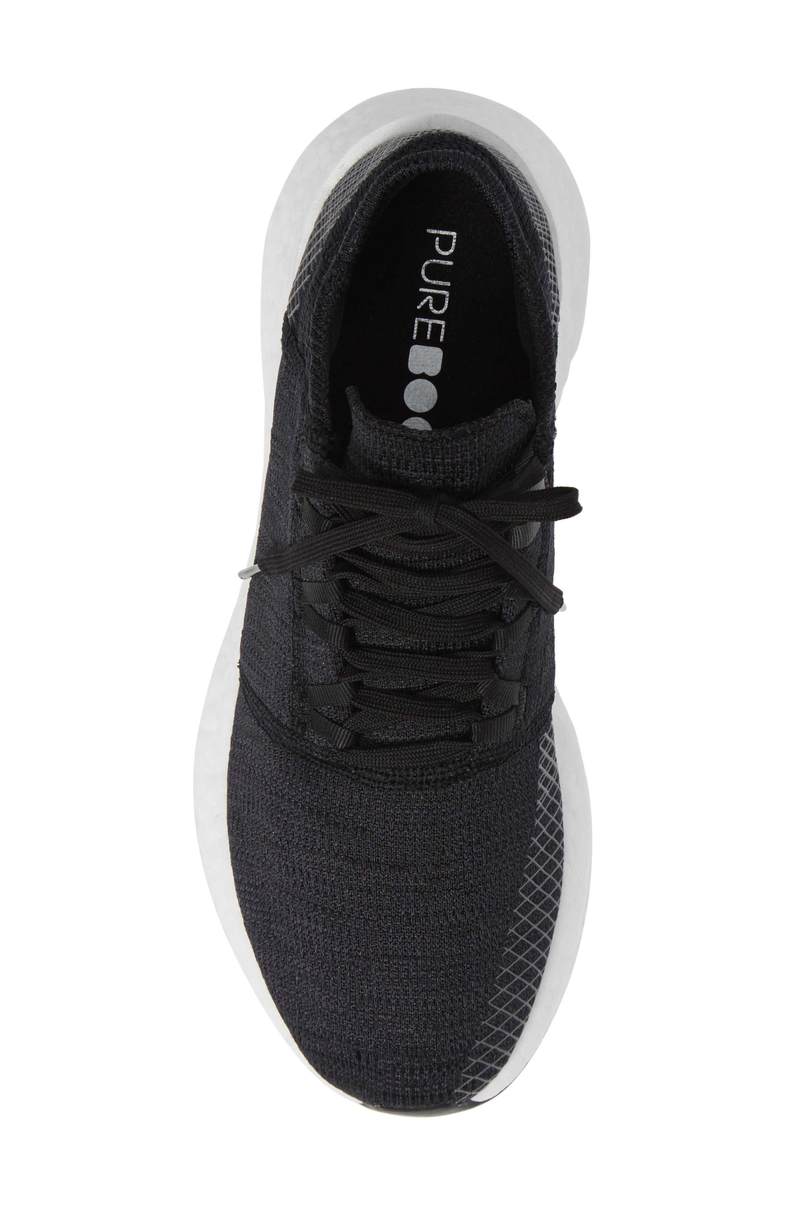 PureBoost GO Running Shoe,                             Alternate thumbnail 5, color,                             BLACK/ GREY