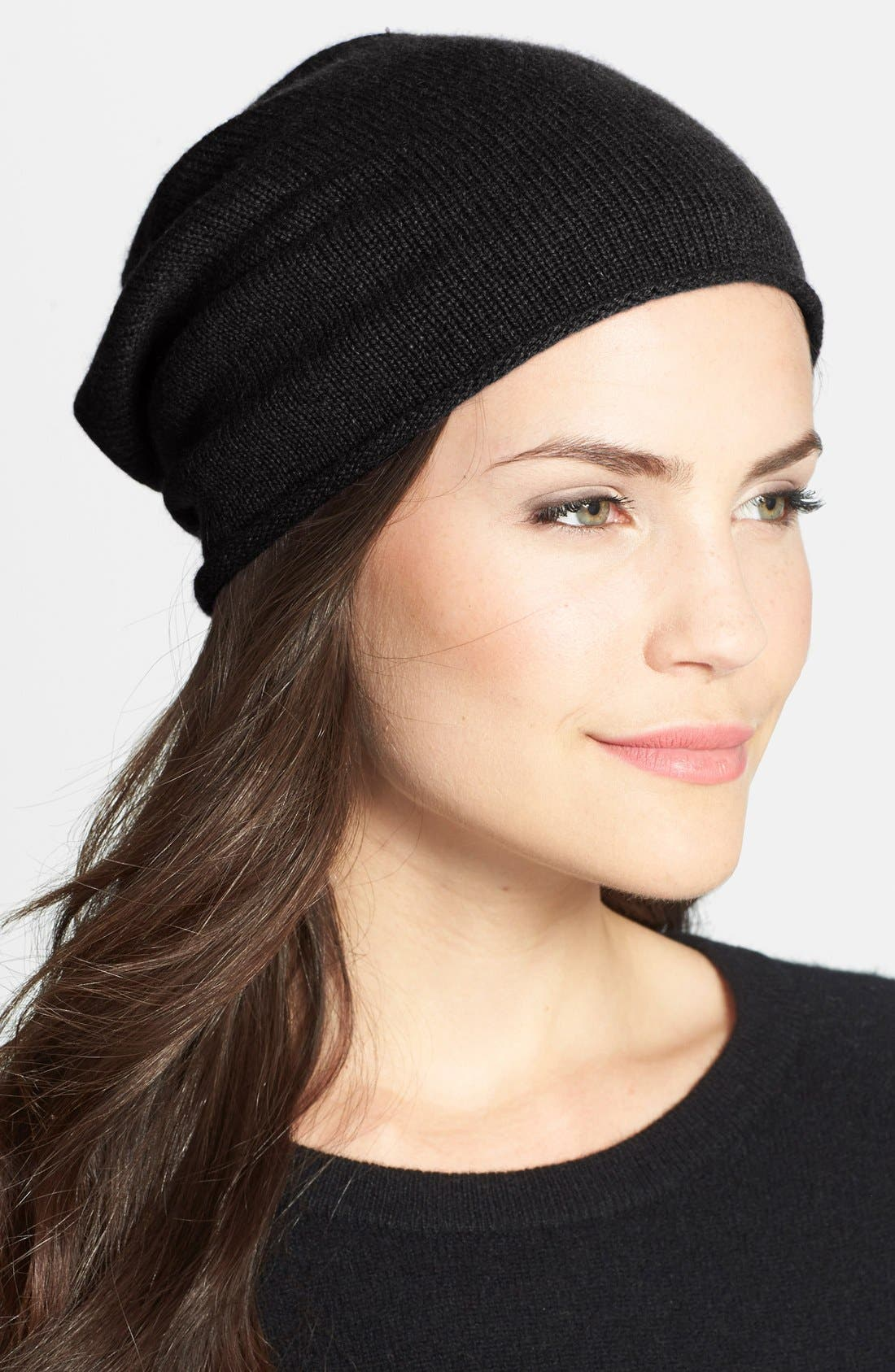 Slouchy Cashmere Beanie,                             Main thumbnail 3, color,