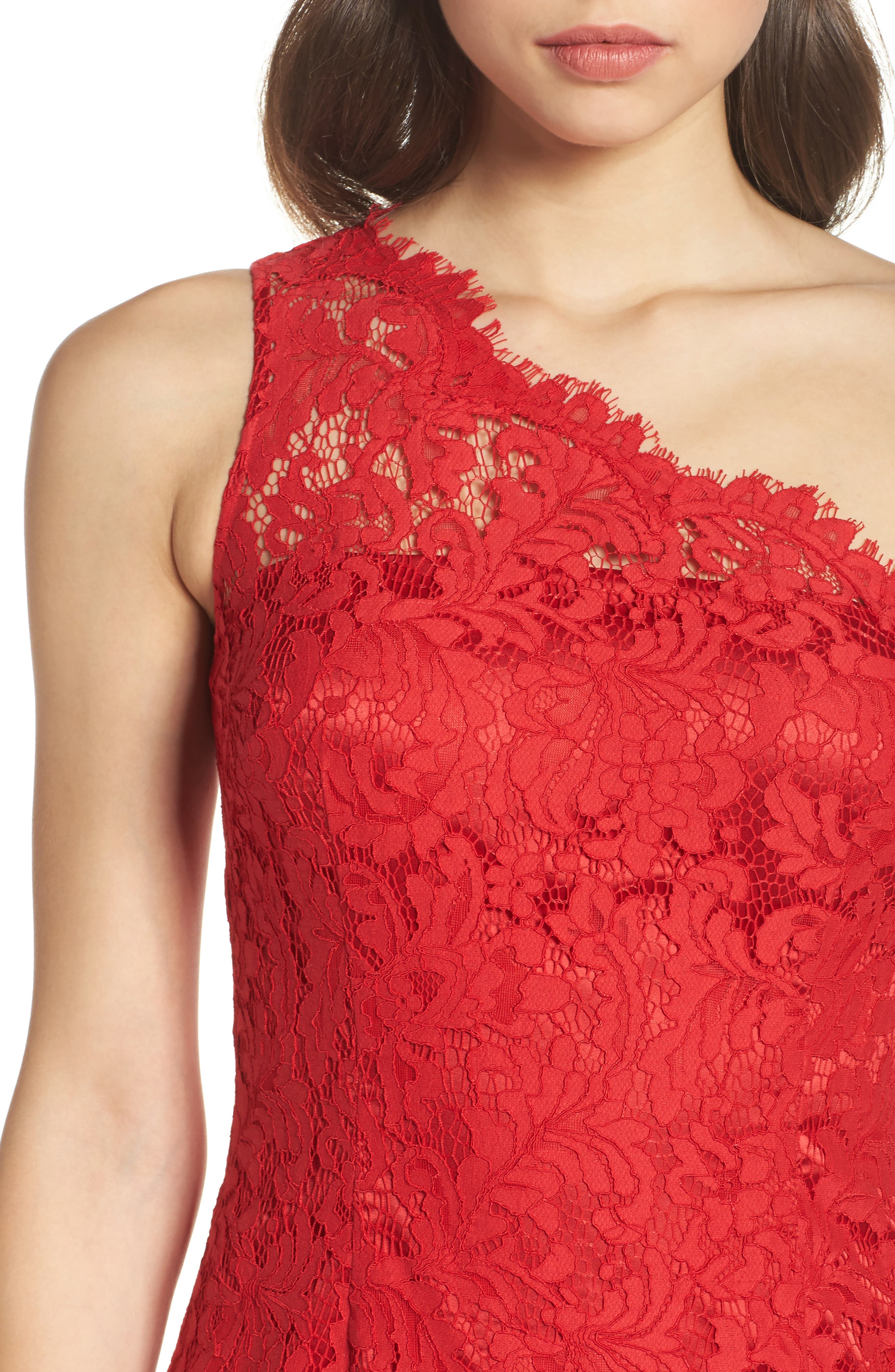 One-Shoulder Lace Dress,                             Alternate thumbnail 4, color,                             610