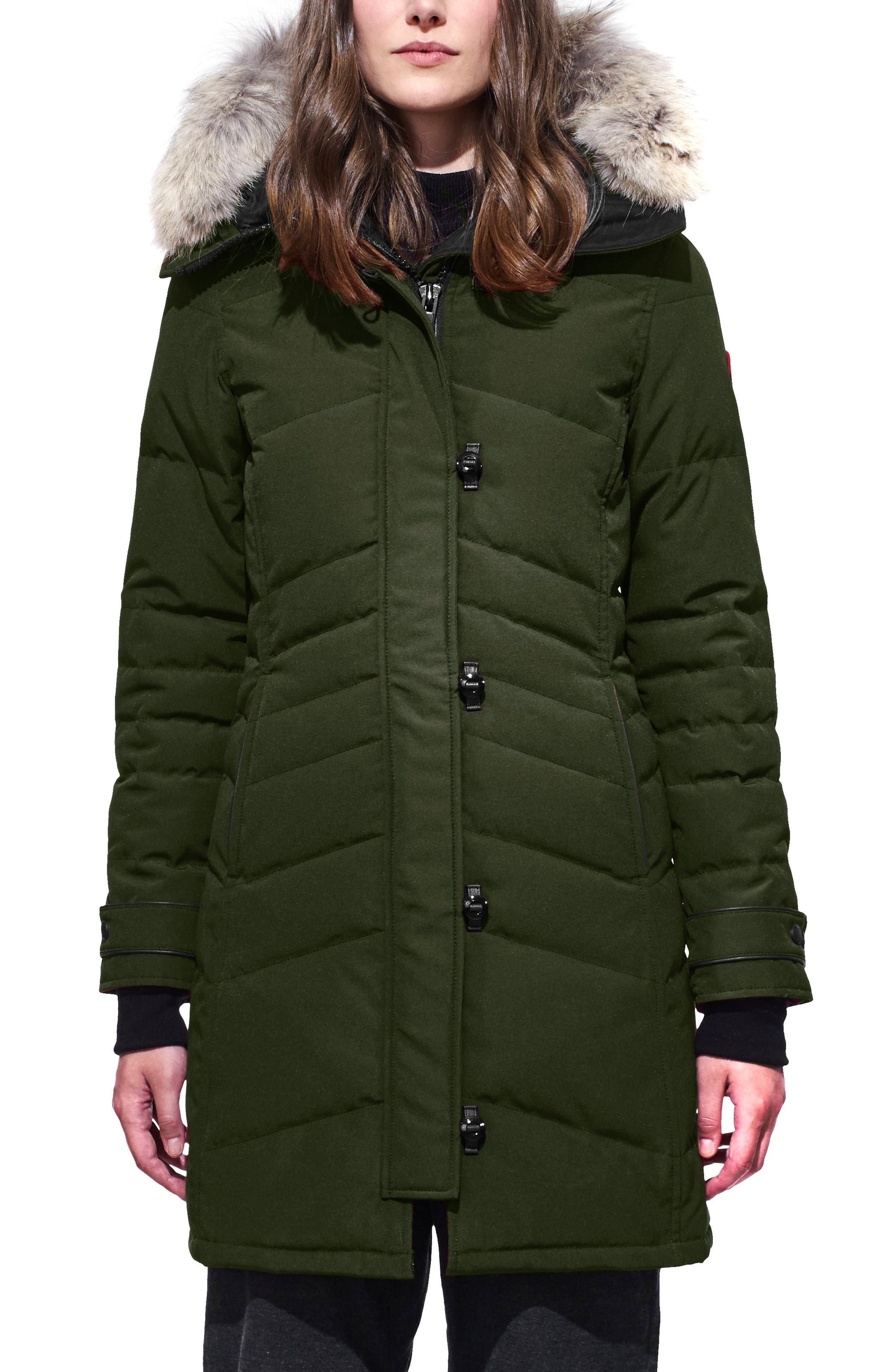 canada goose lorette hooded down parka with genuine coyote fur rh shop nordstrom com