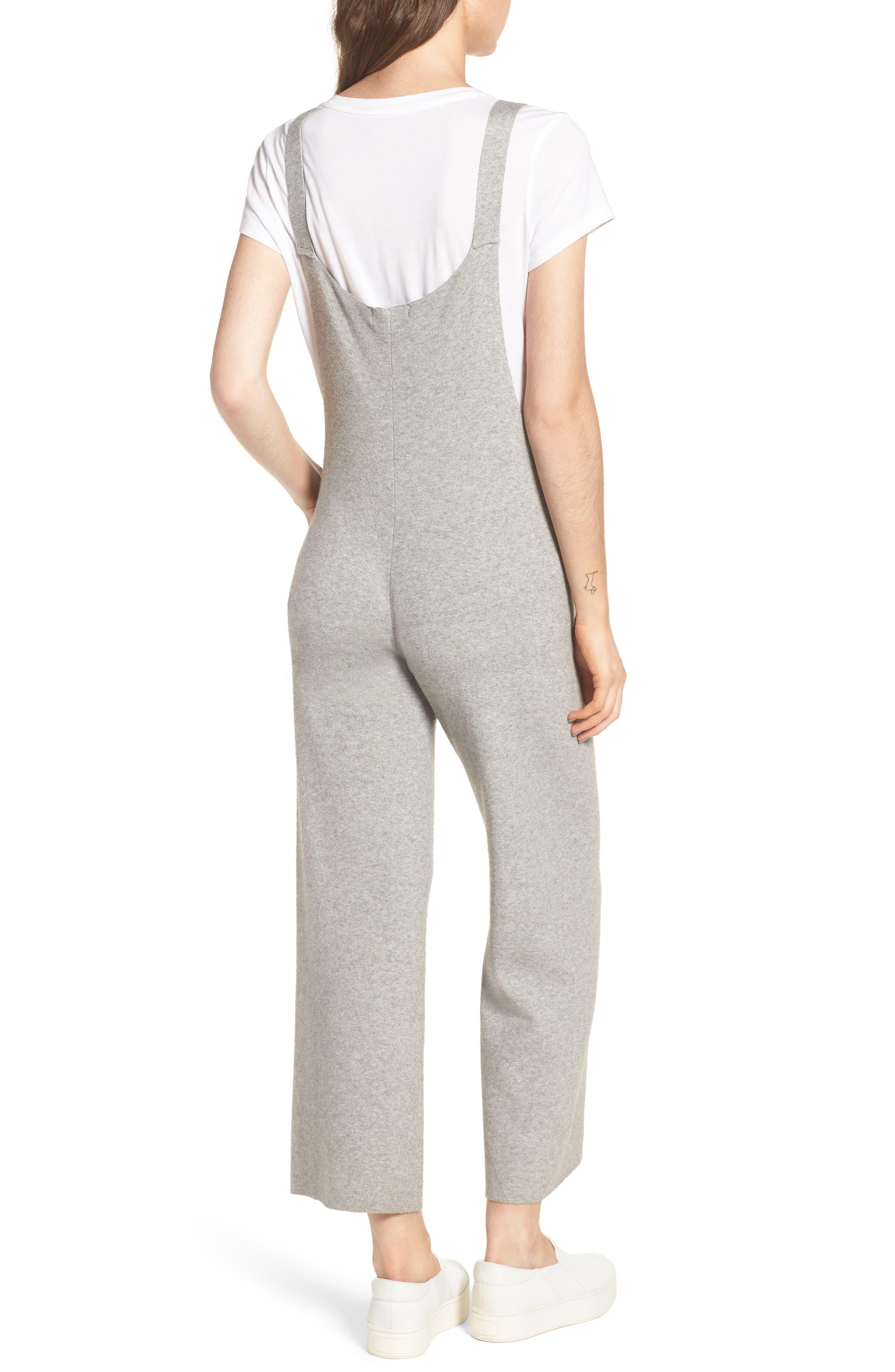 Crop Knit Jumpsuit,                             Alternate thumbnail 2, color,                             020