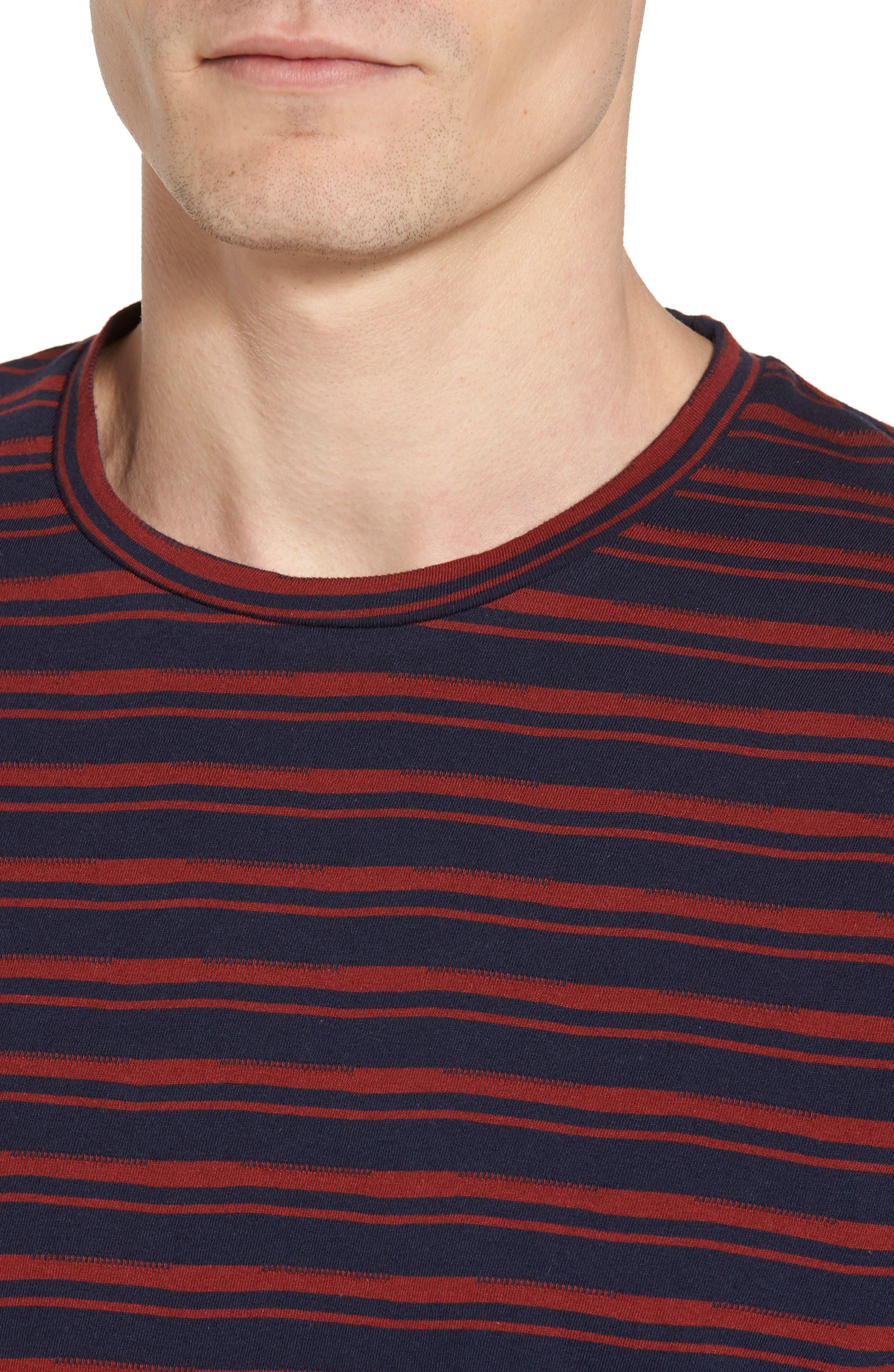 Distorted Stripe T-Shirt,                             Alternate thumbnail 4, color,