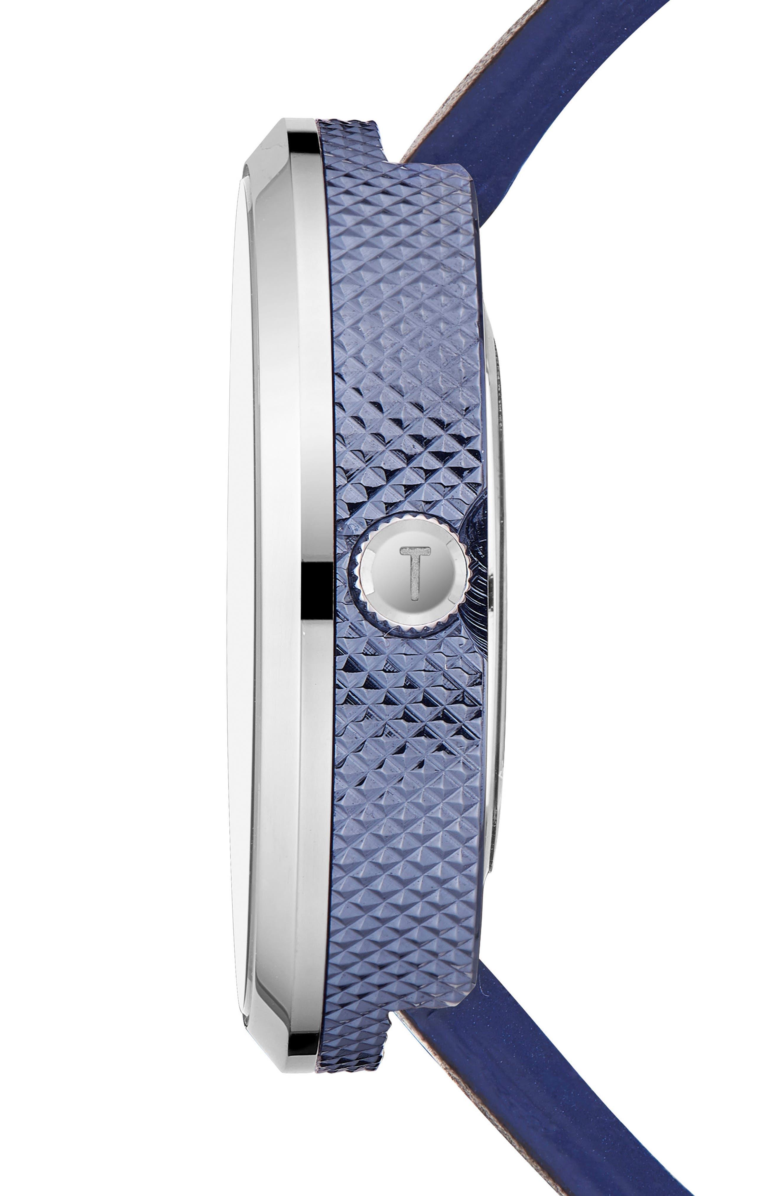 Josh Leather Strap Watch, 42mm,                             Alternate thumbnail 3, color,                             003
