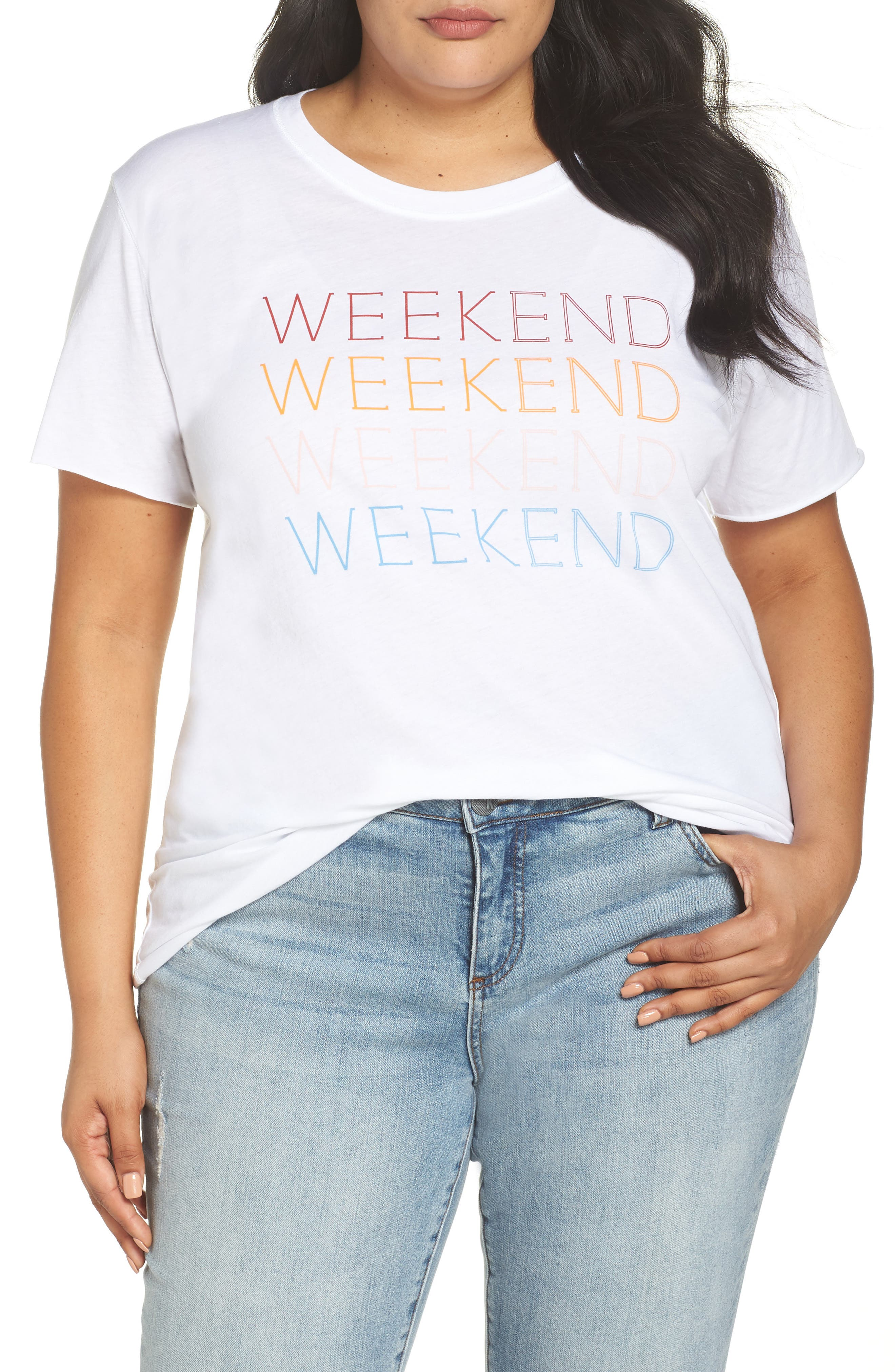 Weekend Graphic Tee,                             Alternate thumbnail 2, color,                             100