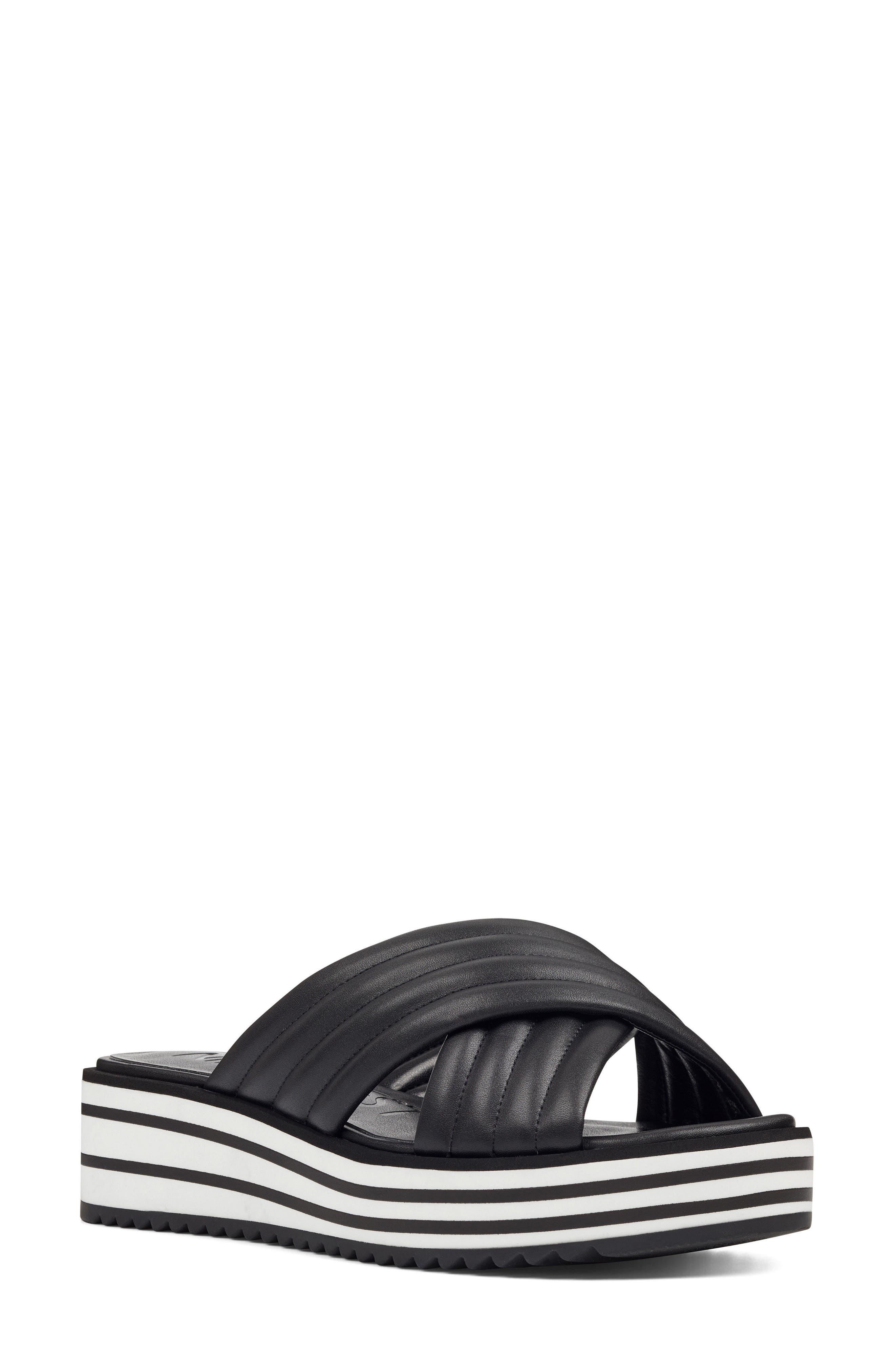 Zonita Platform Slide Sandal,                             Main thumbnail 1, color,                             001