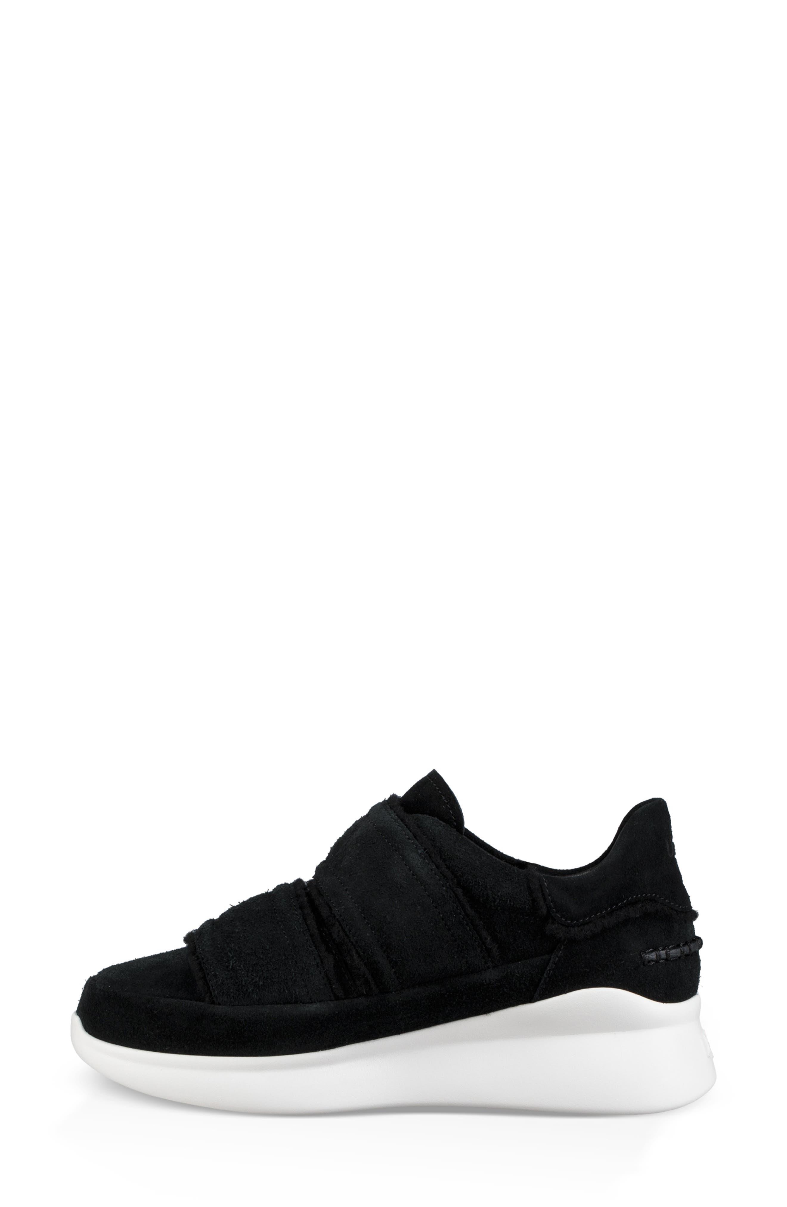 Ashby Spill Seam Sneaker,                             Alternate thumbnail 6, color,                             BLACK LEATHER