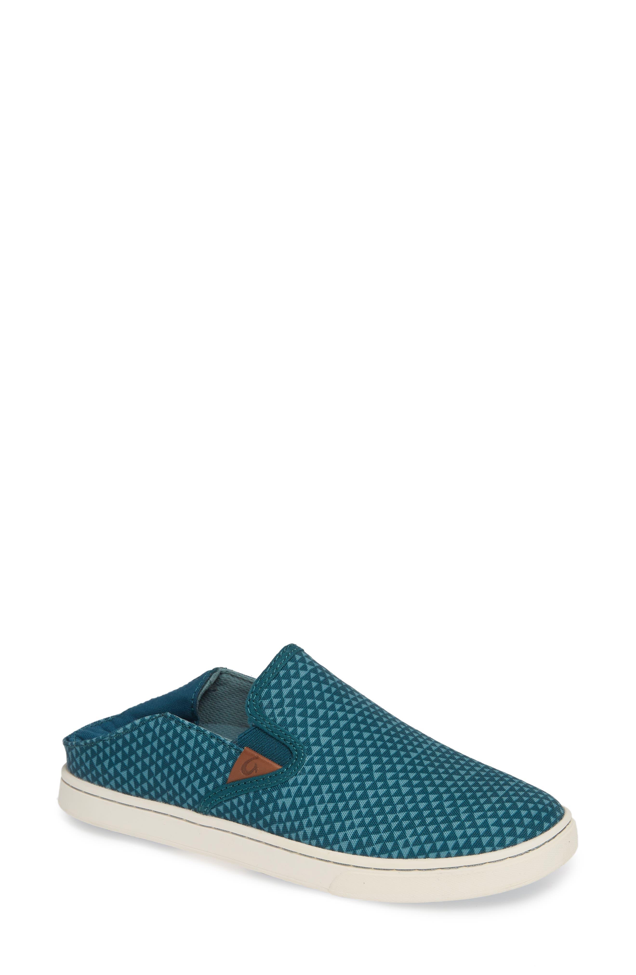 Pehuea Pa'i Convertible Sneaker,                             Main thumbnail 1, color,                             DEEP TEAL/ TRIANGLE FABRIC