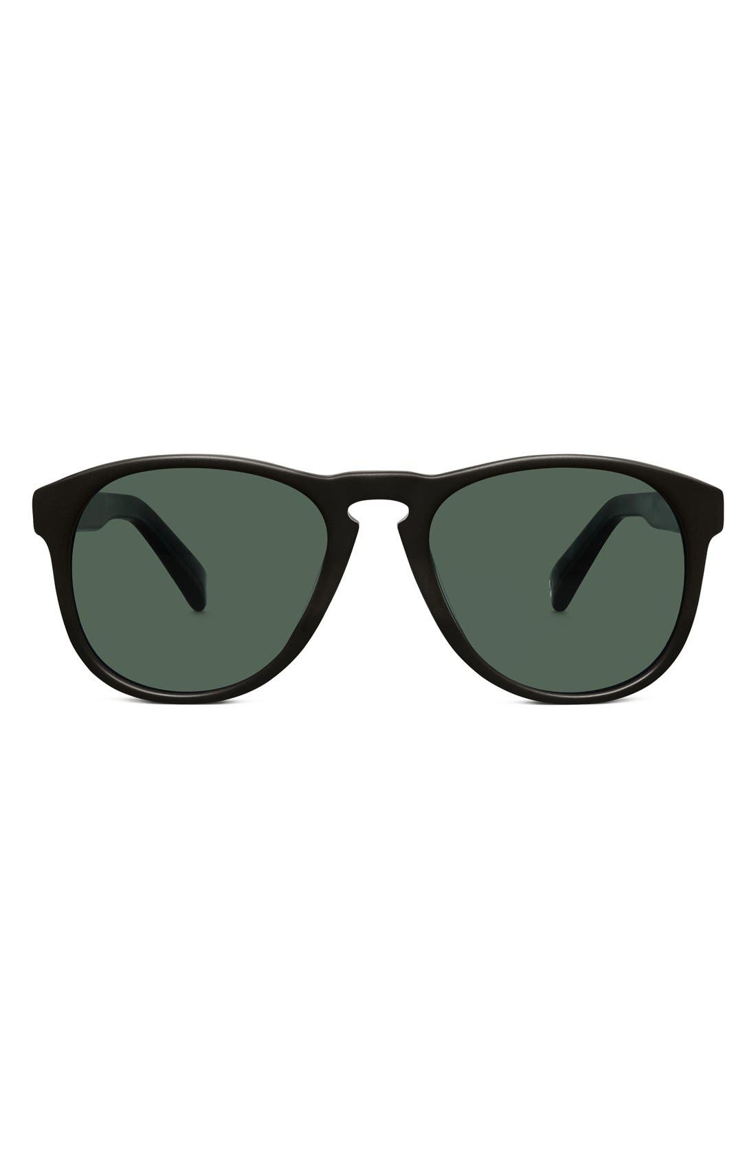 WARBY PARKER,                             'Griffin' 53mm Polarized Sunglasses,                             Main thumbnail 1, color,                             001
