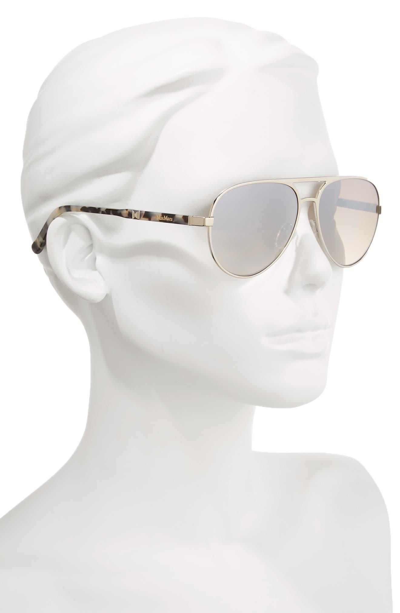 Desigs 57mm Gradient Aviator Sunglasses,                             Alternate thumbnail 4, color,