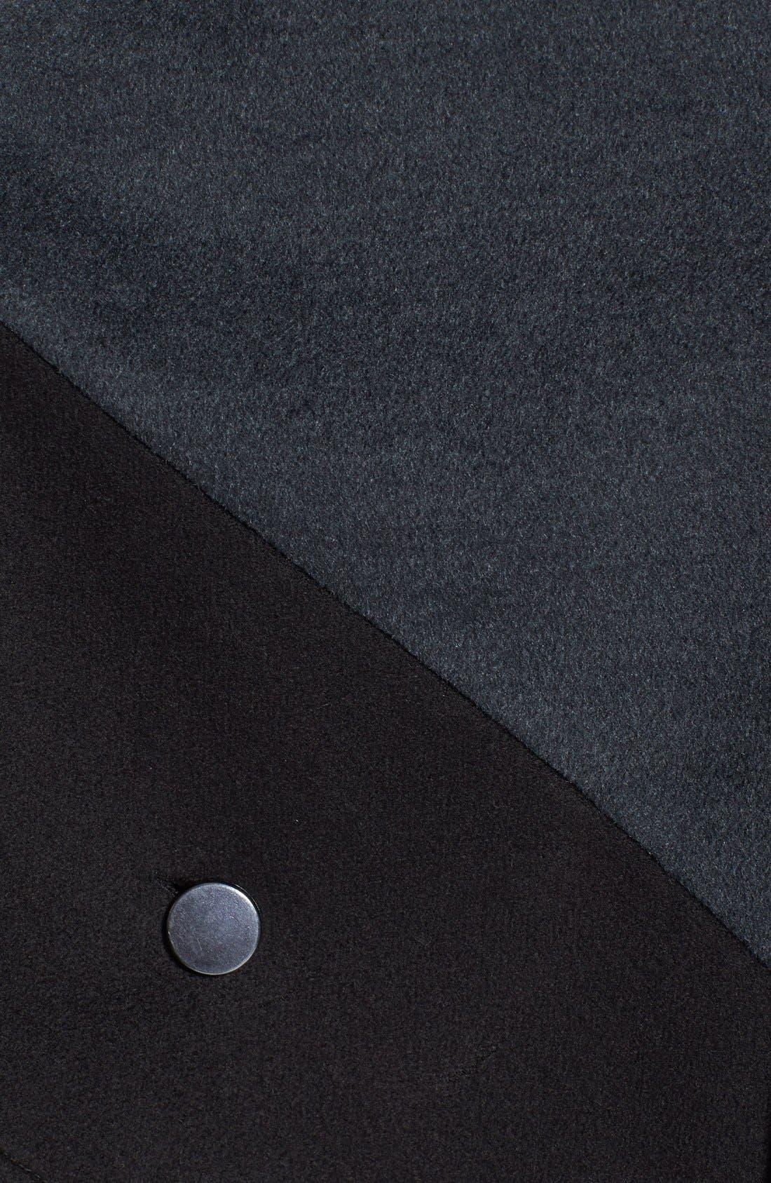 Faux Leather Trim Colorblock Cape,                             Alternate thumbnail 2, color,                             020