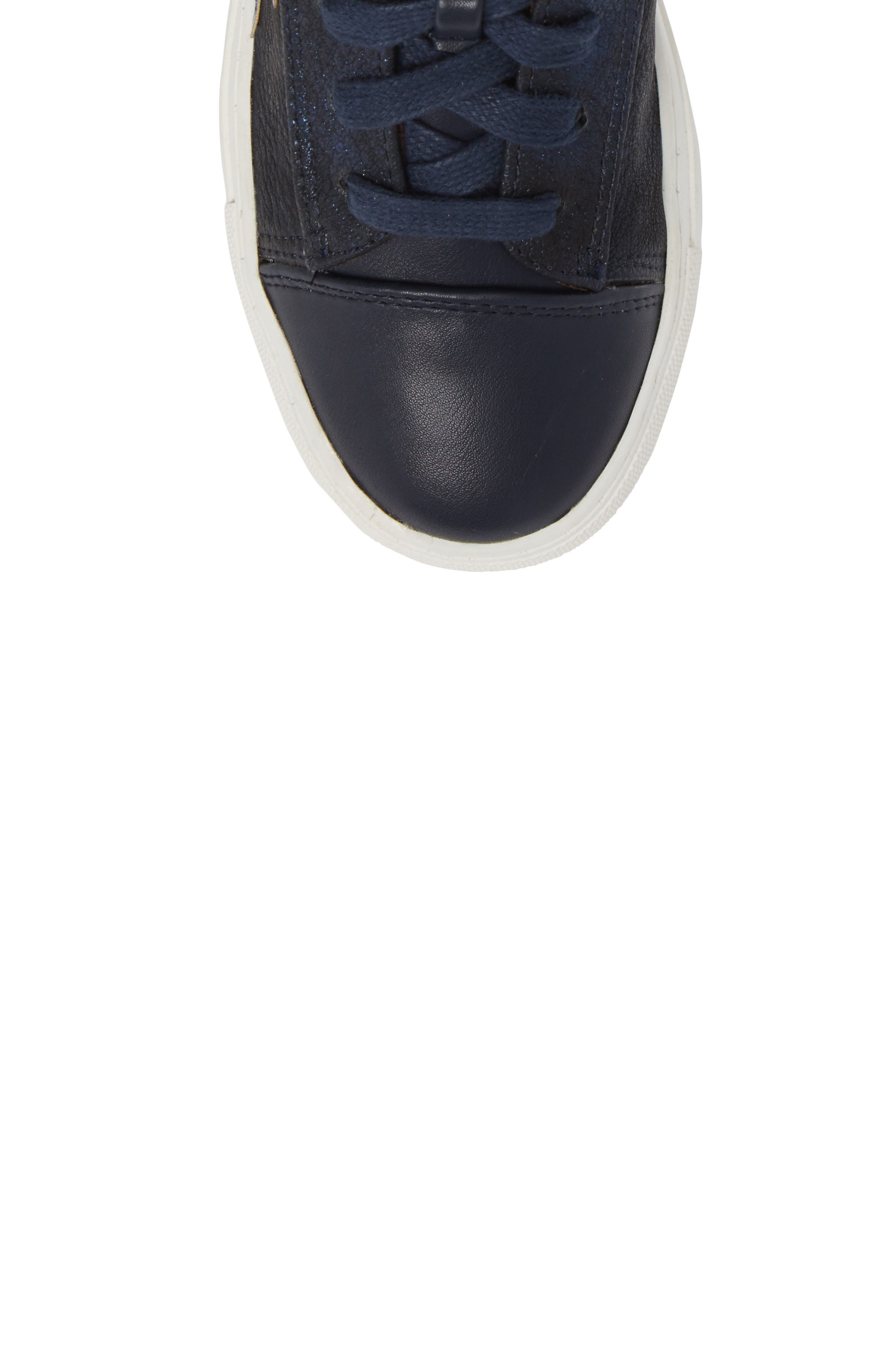 Jflash Glitter Star High Top Sneaker,                             Alternate thumbnail 5, color,
