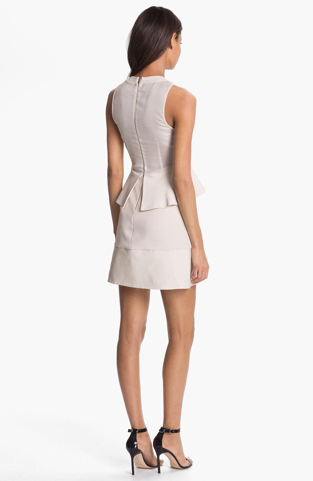 'New Delian' Mixed Media A-Line Dress,                             Alternate thumbnail 2, color,                             900