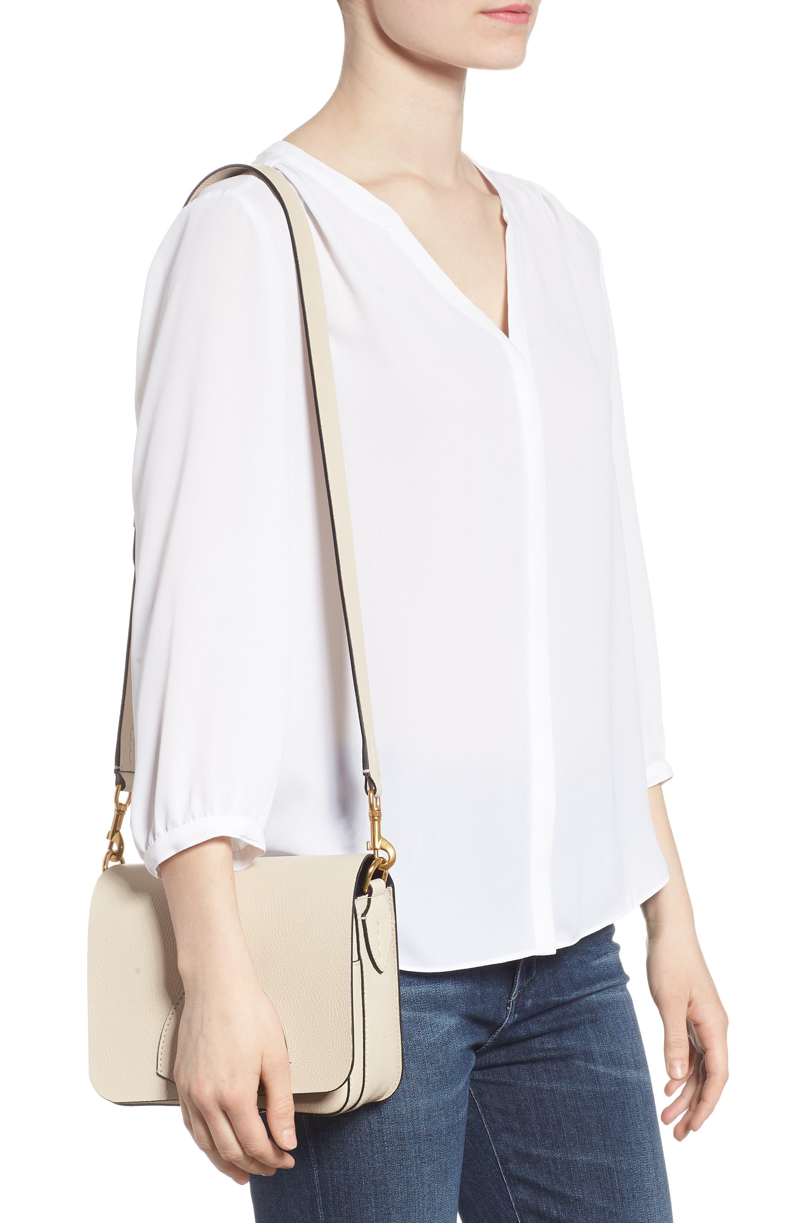 Square Leather Shoulder Bag,                             Alternate thumbnail 2, color,                             250