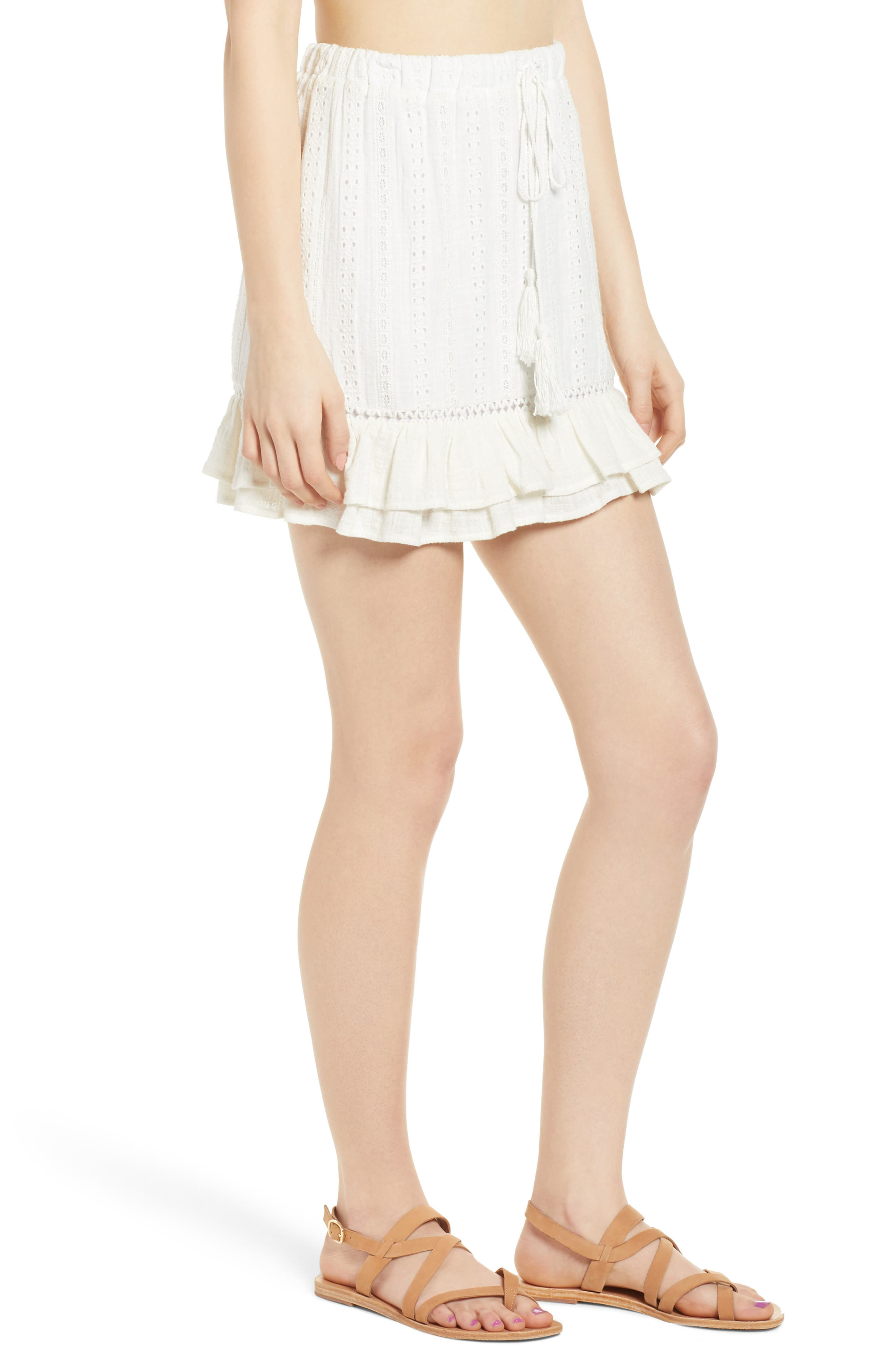 Daisy Ruffle Miniskirt,                             Alternate thumbnail 3, color,