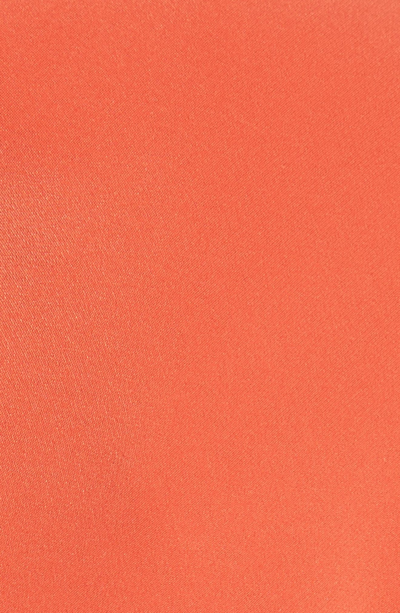 Twist Detail Silk Dress,                             Alternate thumbnail 5, color,
