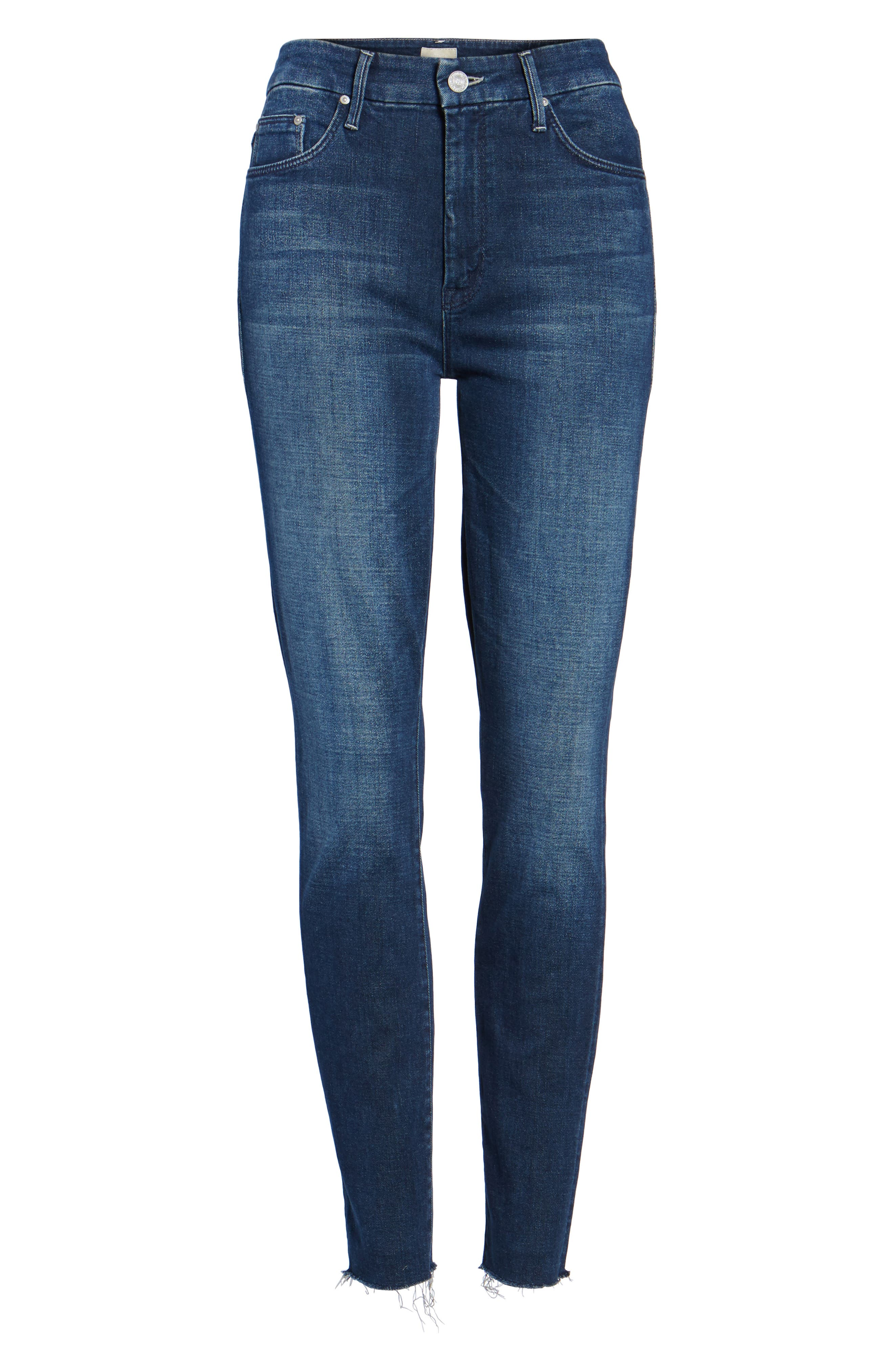 The Looker High Waist Ankle Skinny Jeans,                             Alternate thumbnail 6, color,                             408