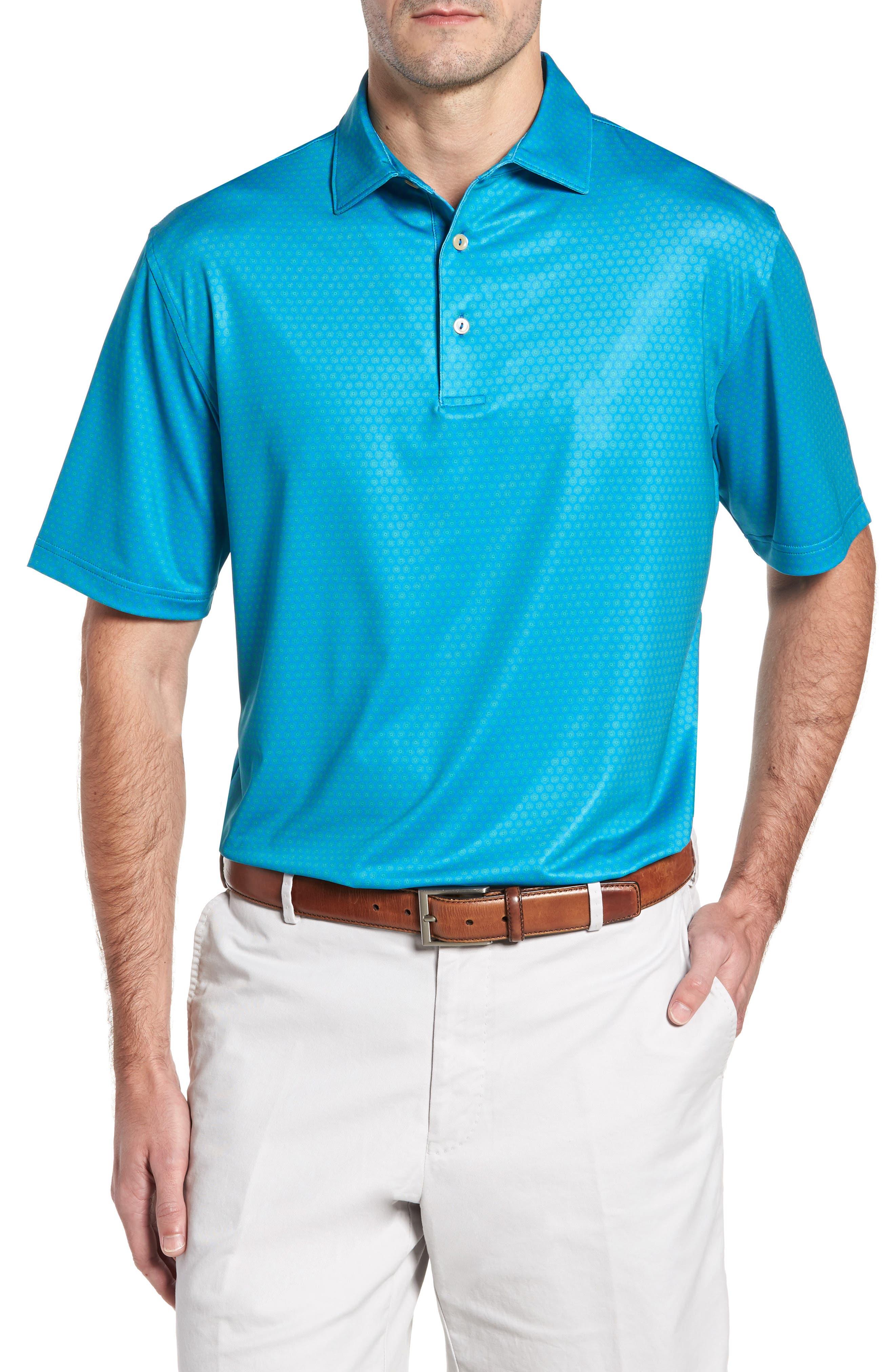 Sean Mata Sunburst Stretch Jersey Polo,                         Main,                         color, 403