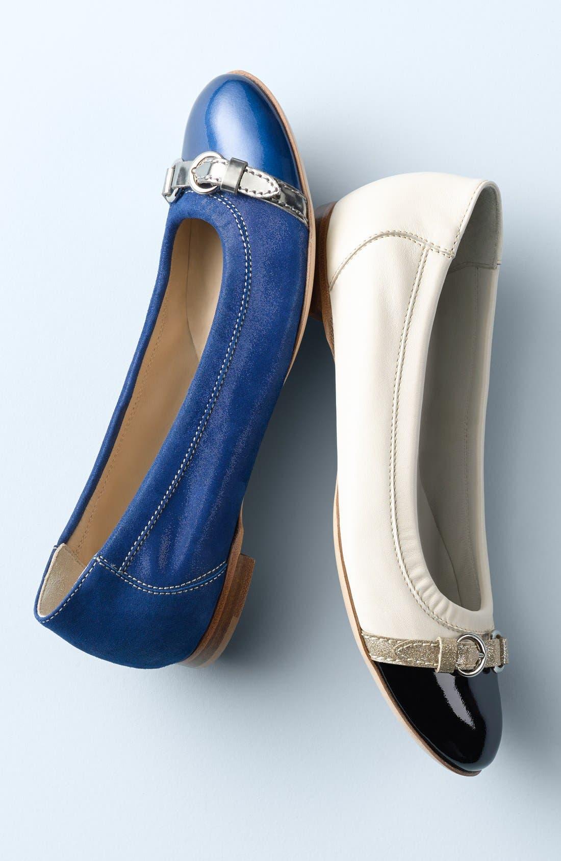 Cap Toe Ballet Flat,                             Alternate thumbnail 7, color,                             BLUE TWEED