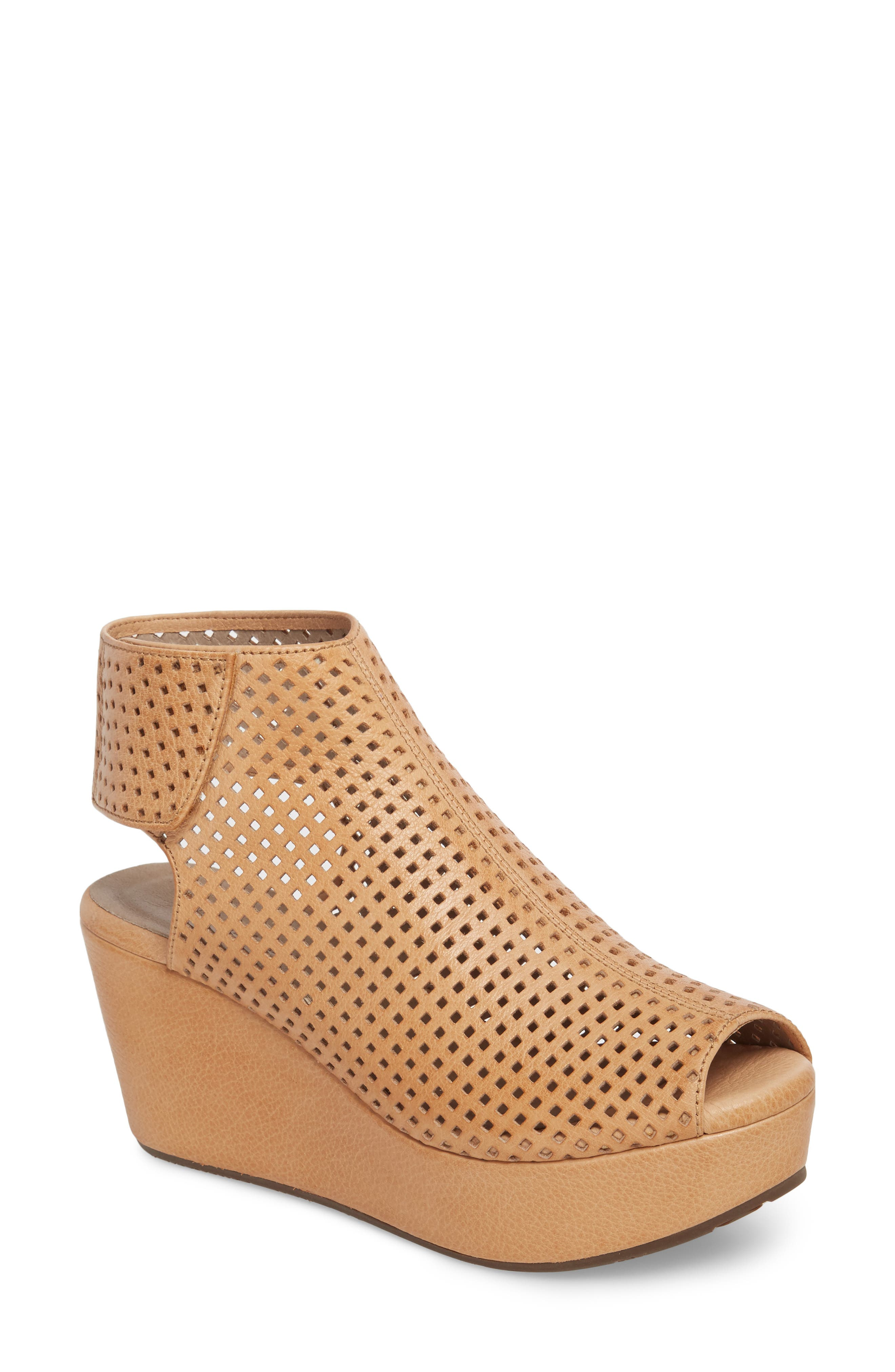 Wing Perforated Platform Wedge,                             Main thumbnail 1, color,                             200