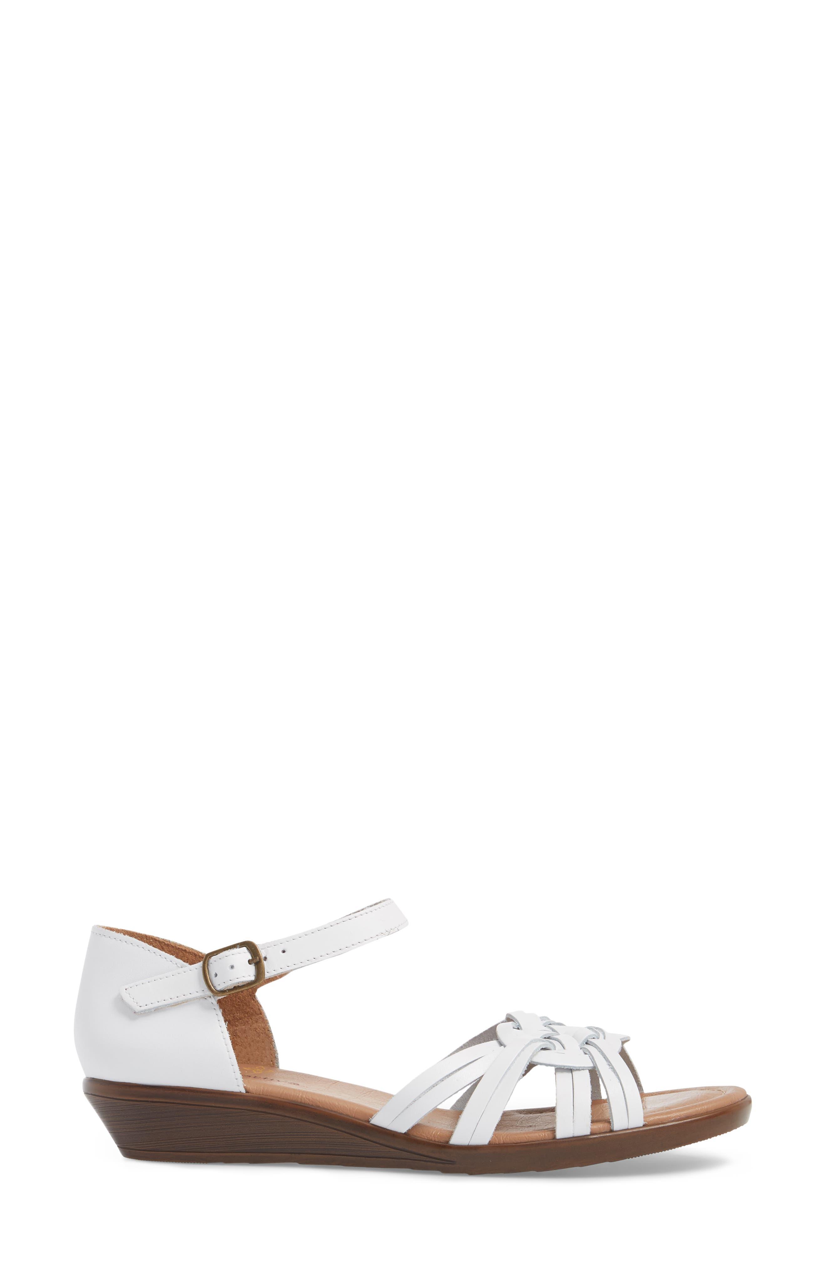 Fortune Sandal,                             Alternate thumbnail 3, color,                             WHITE LEATHER