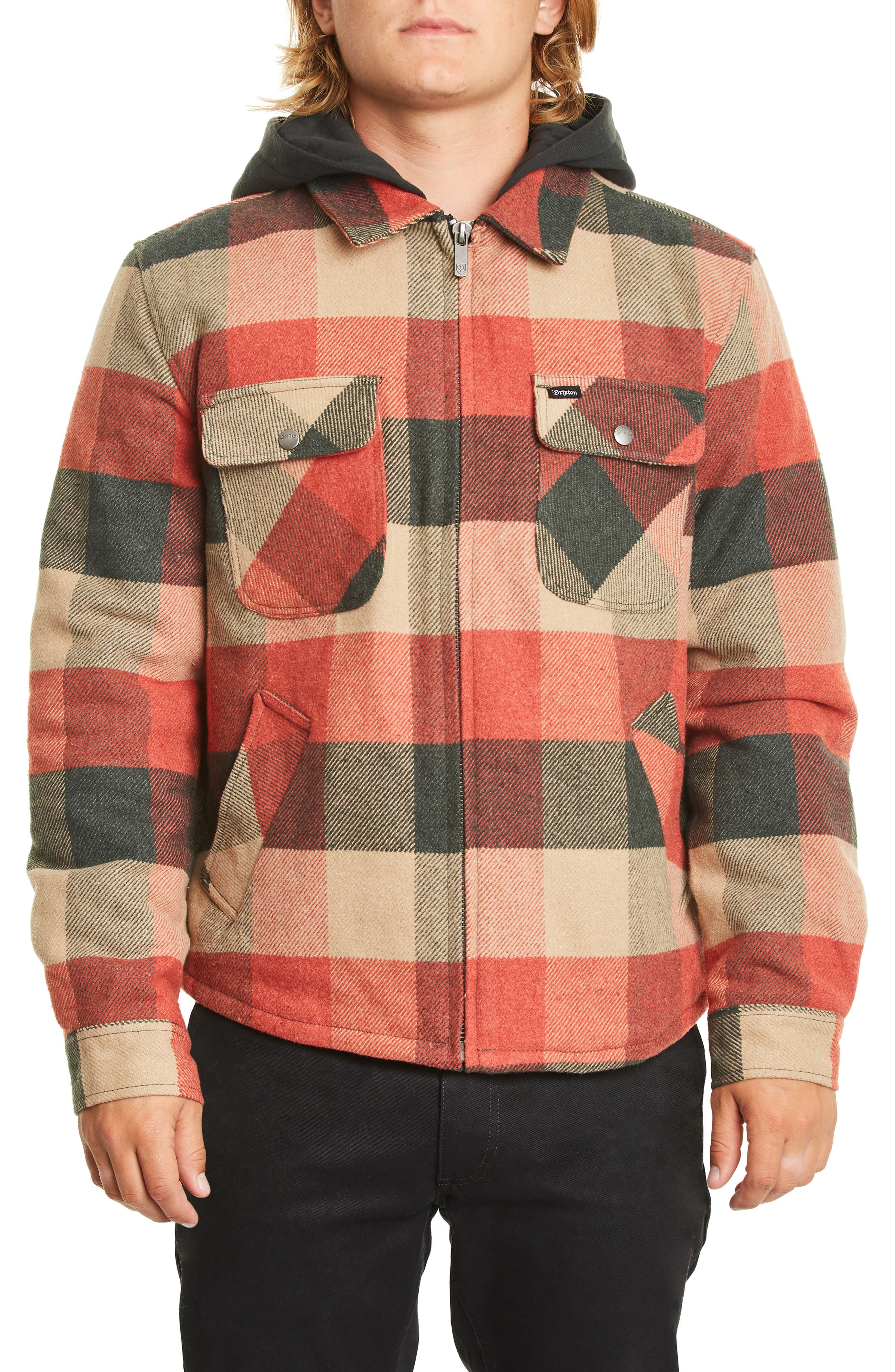 Bowery Jacket,                         Main,                         color, BLACK/ RED