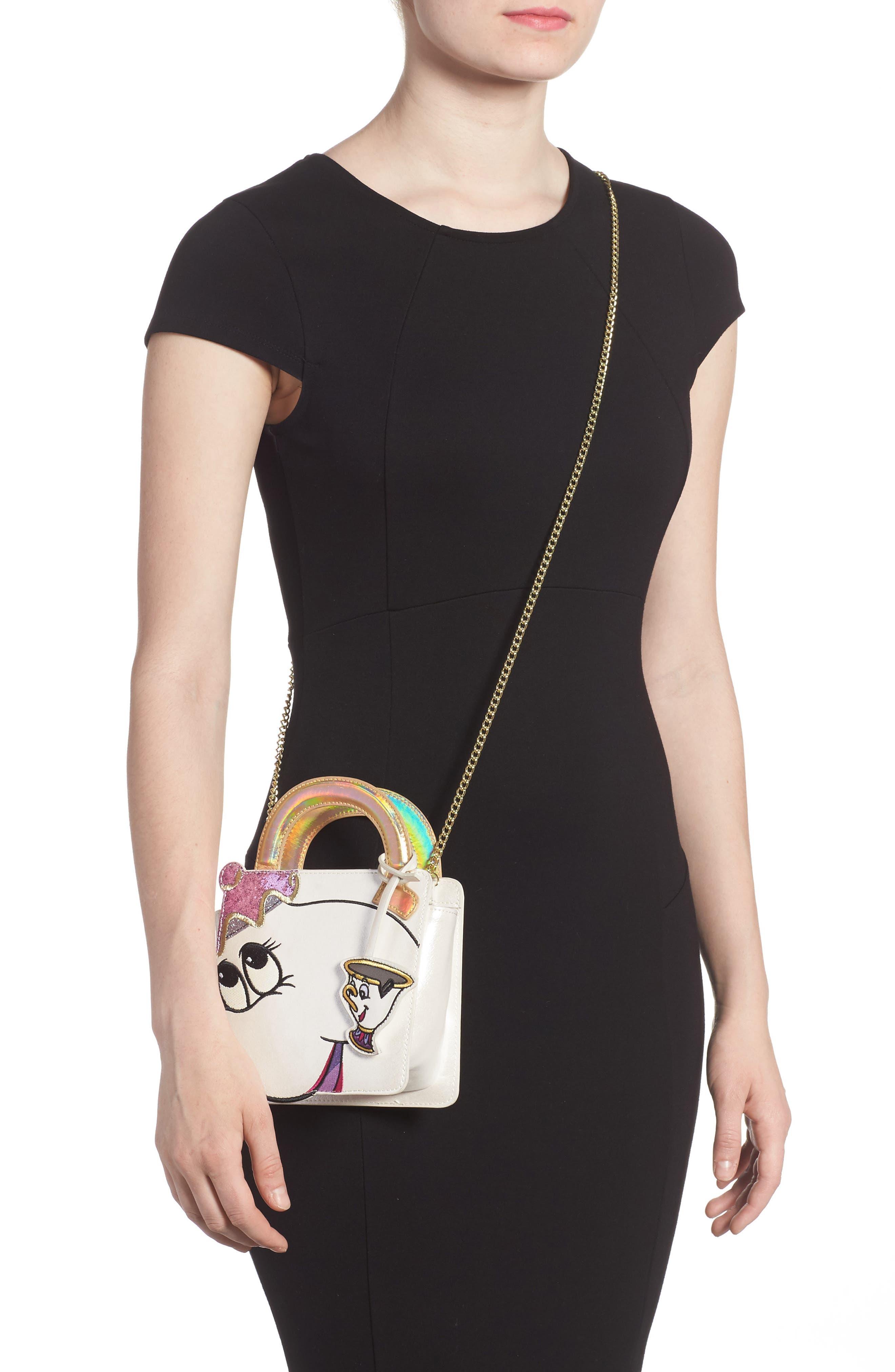 DANIELLE NICOLE,                             x Disney<sup>®</sup> Mrs. Potts & Chip Faux Leather Crossbody Bag,                             Alternate thumbnail 2, color,                             040