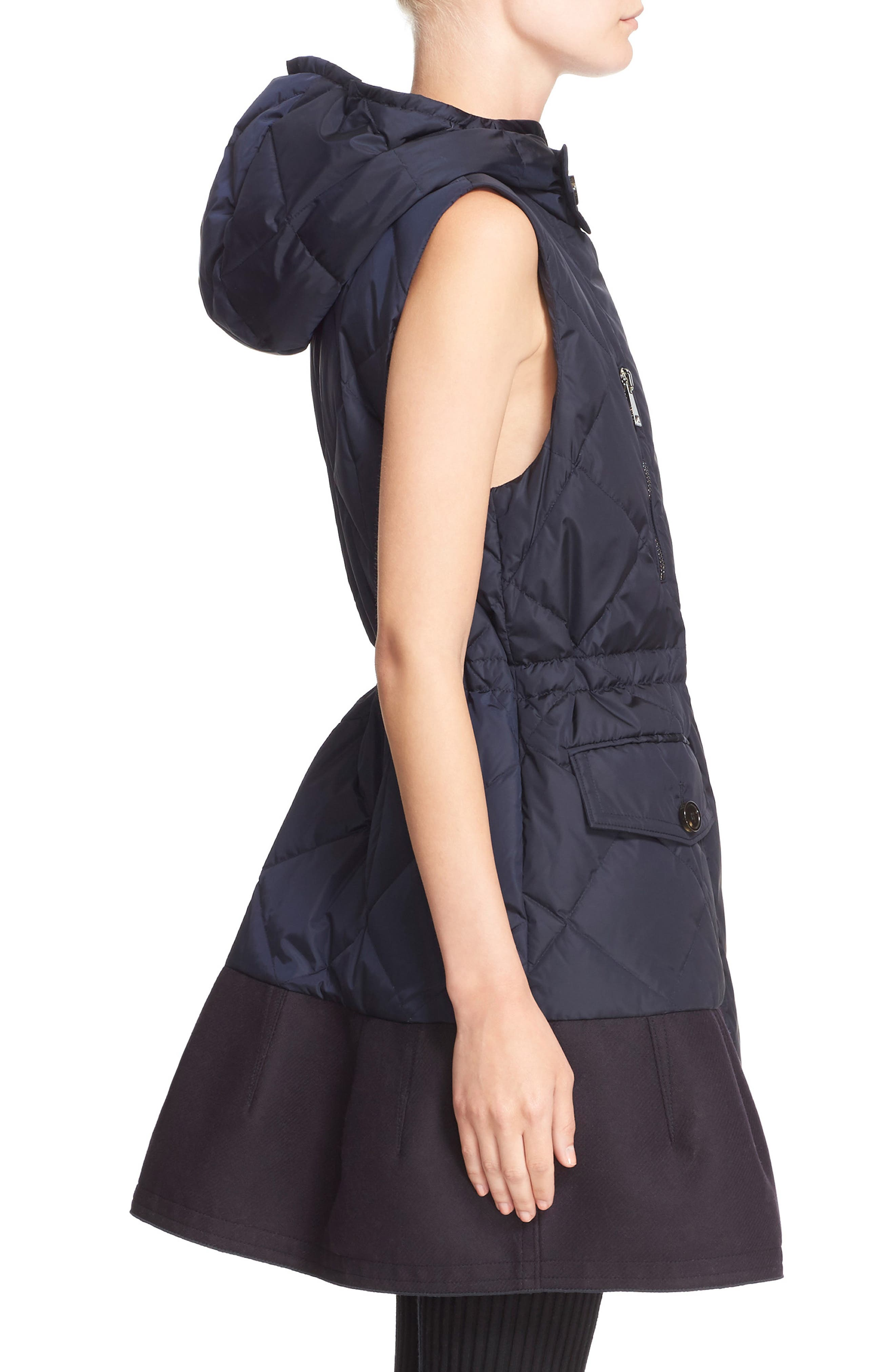 'Eles' Water Resistant Quilted Hooded Down Vest,                             Alternate thumbnail 3, color,                             419