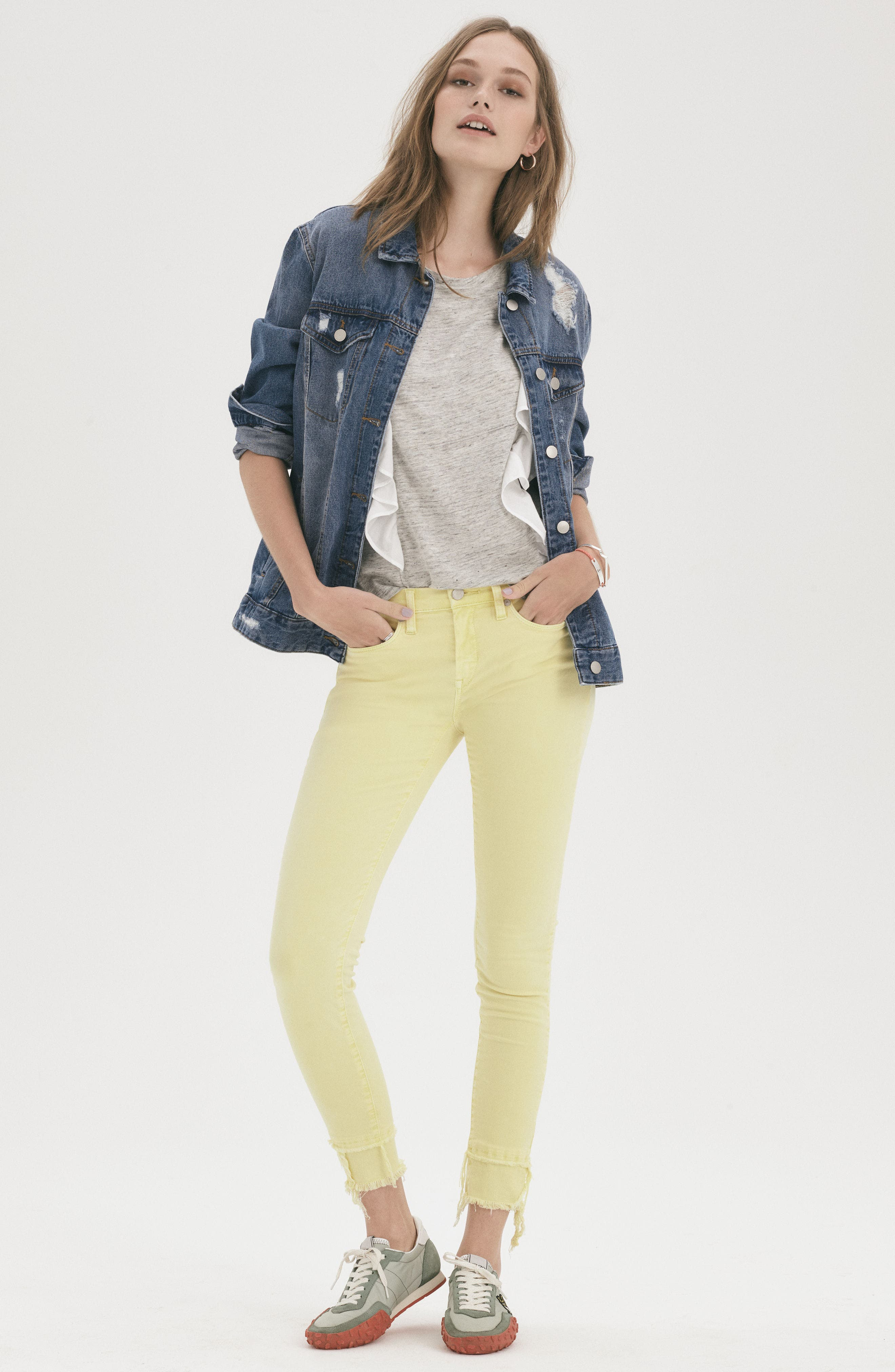 The Reade Classic Crop Raw Edge Double Hem Jeans,                             Alternate thumbnail 9, color,