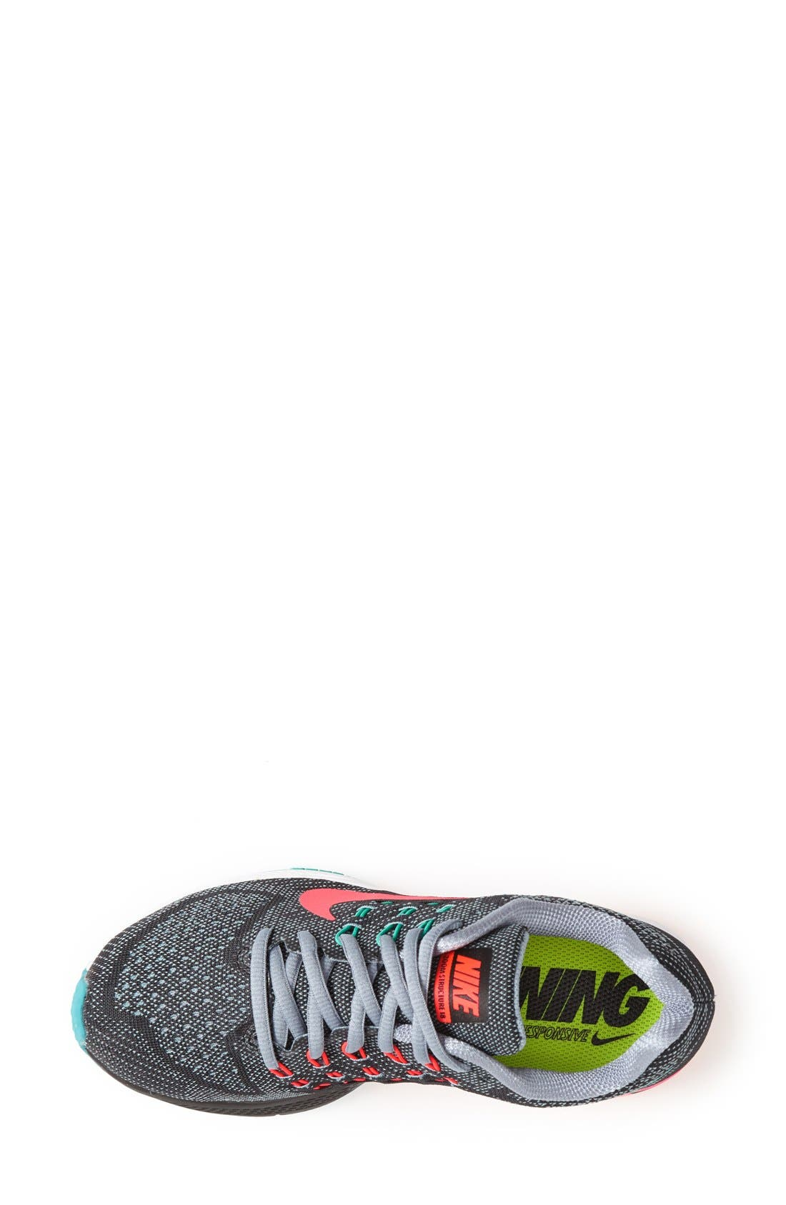 NIKE,                             'Air Zoom Structure 18' Running Shoe,                             Alternate thumbnail 4, color,                             001