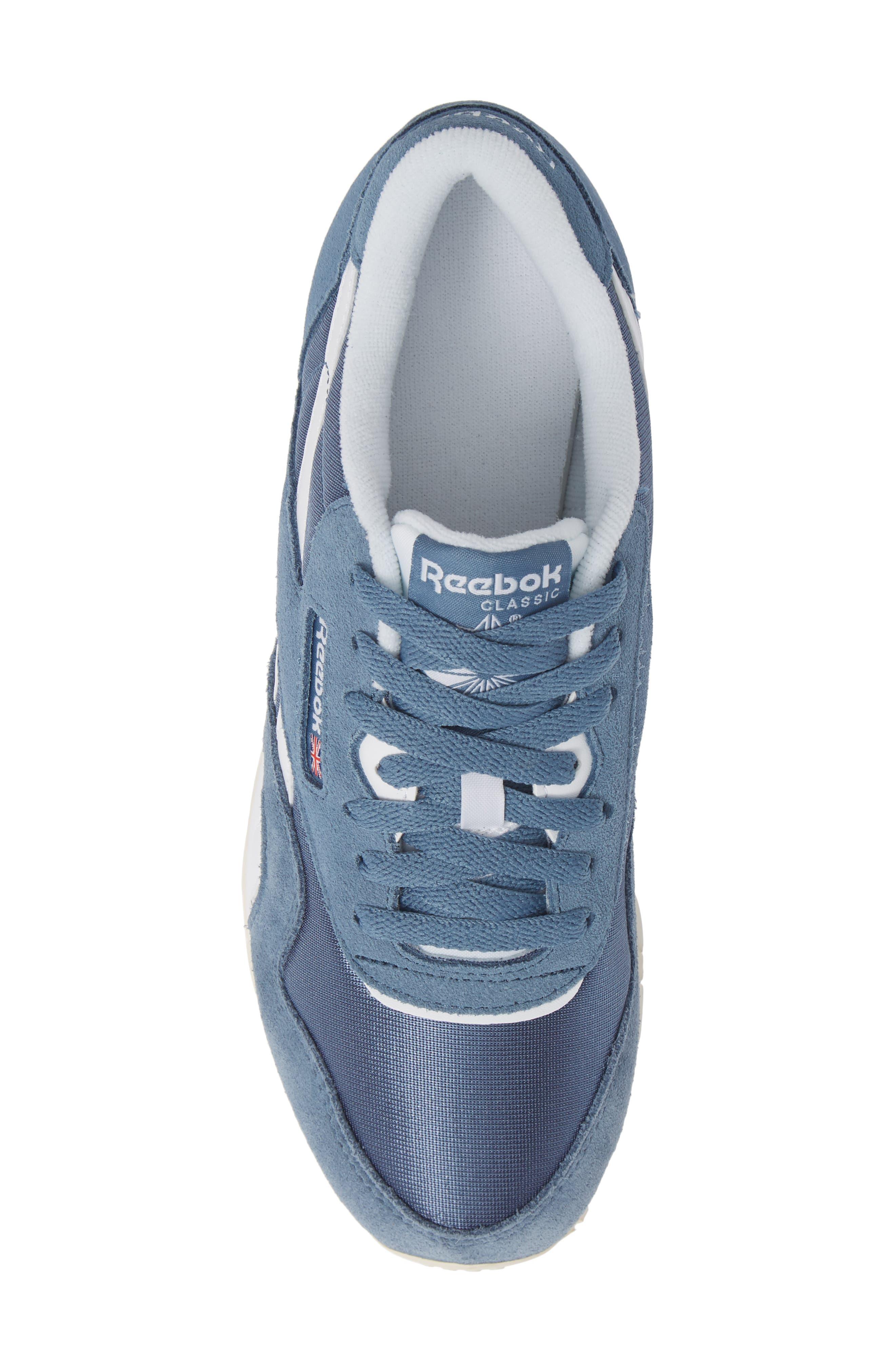 Classic Sneaker,                             Alternate thumbnail 5, color,                             BLUE SLATE/ WHITE/ CHALK