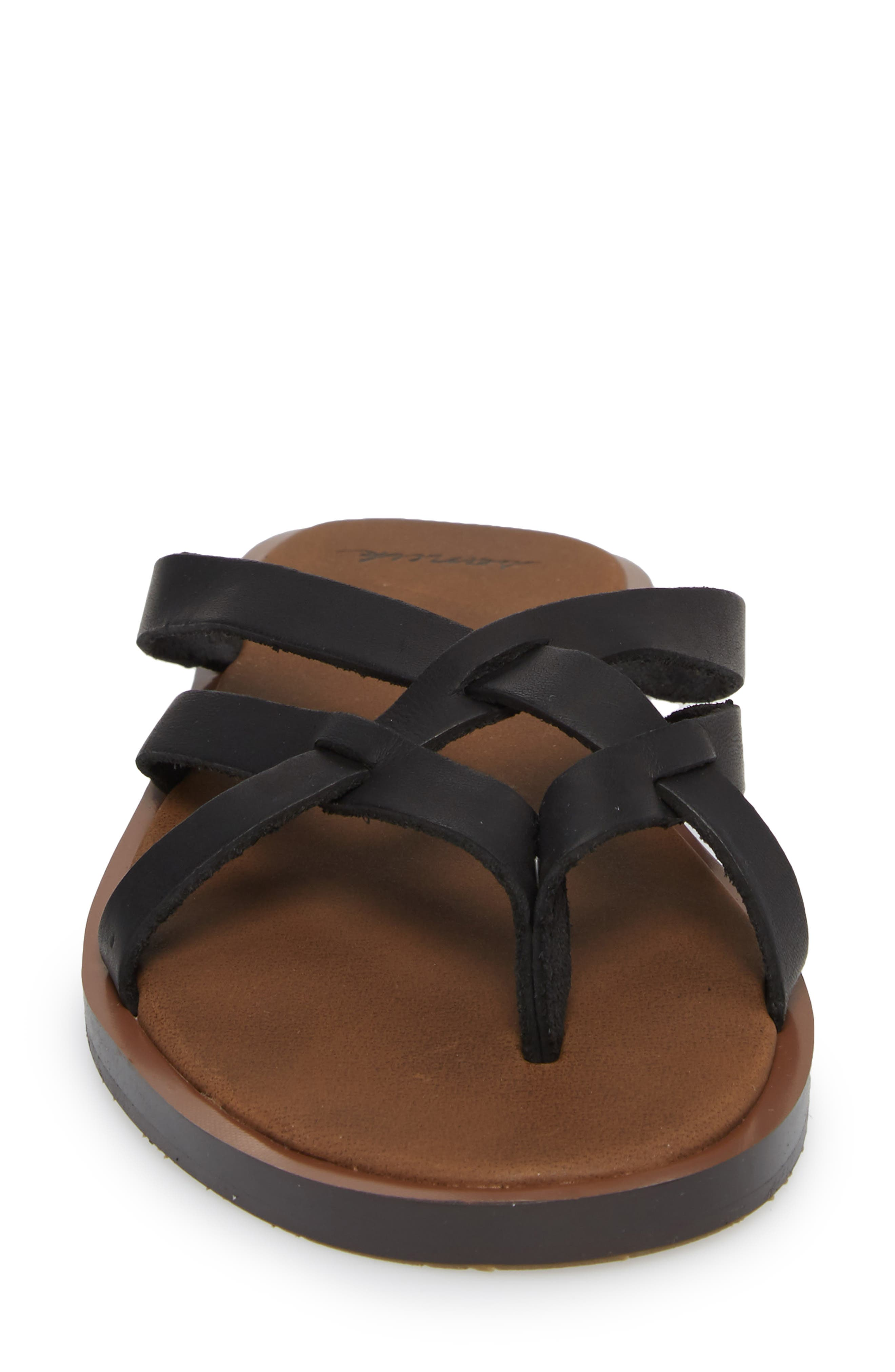 Yoga Strappy Thong Sandal,                             Alternate thumbnail 4, color,                             001