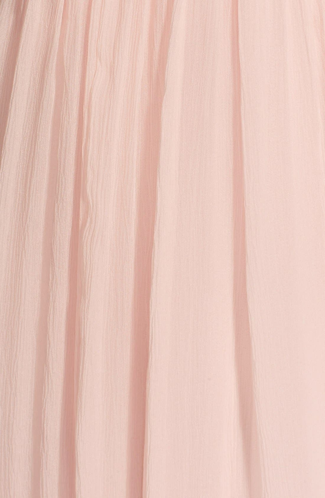 Convertible Crinkled Silk Chiffon Gown,                             Alternate thumbnail 19, color,