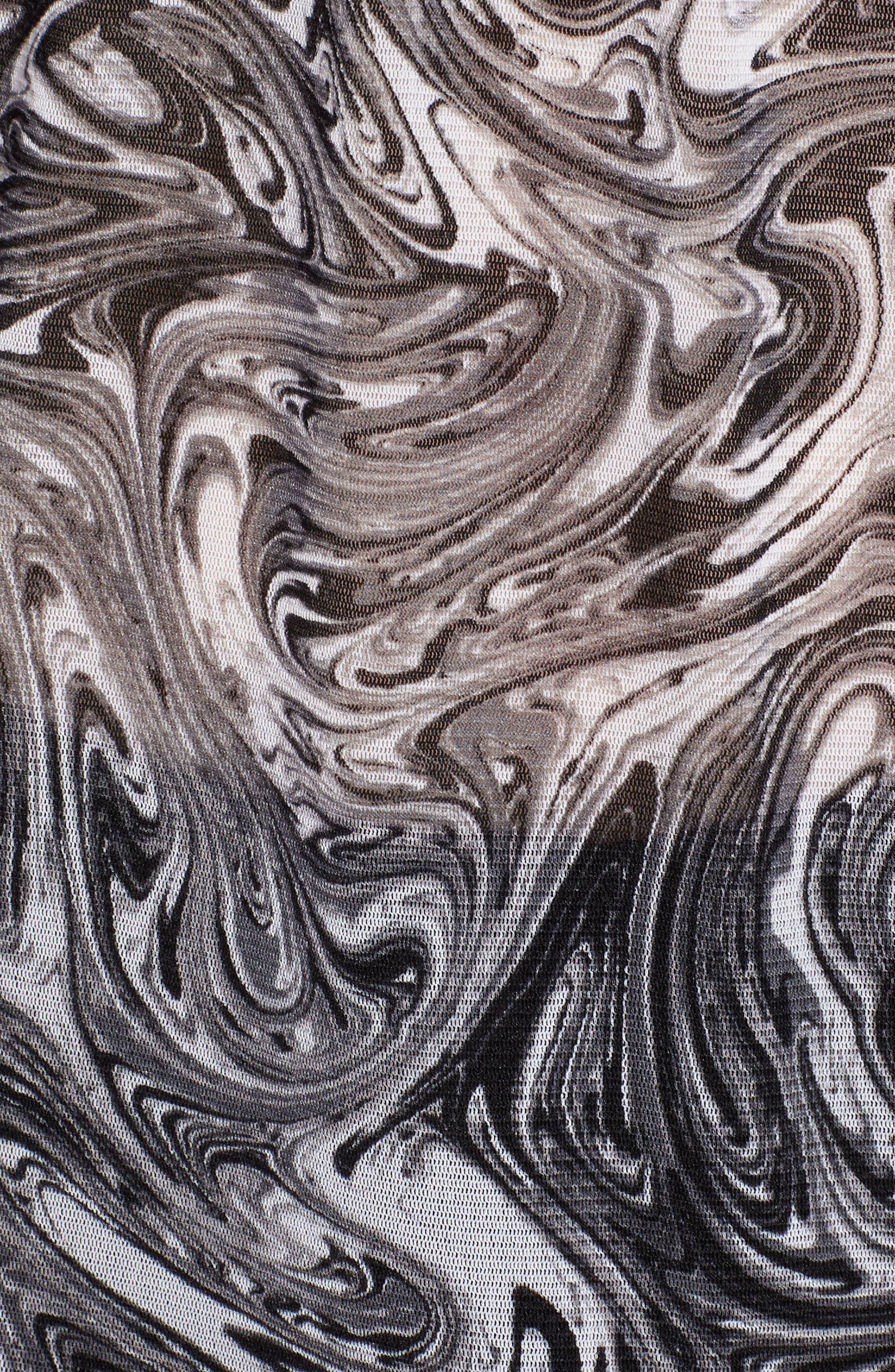 Swirl Off the Shoulder Blouse,                             Alternate thumbnail 6, color,                             001