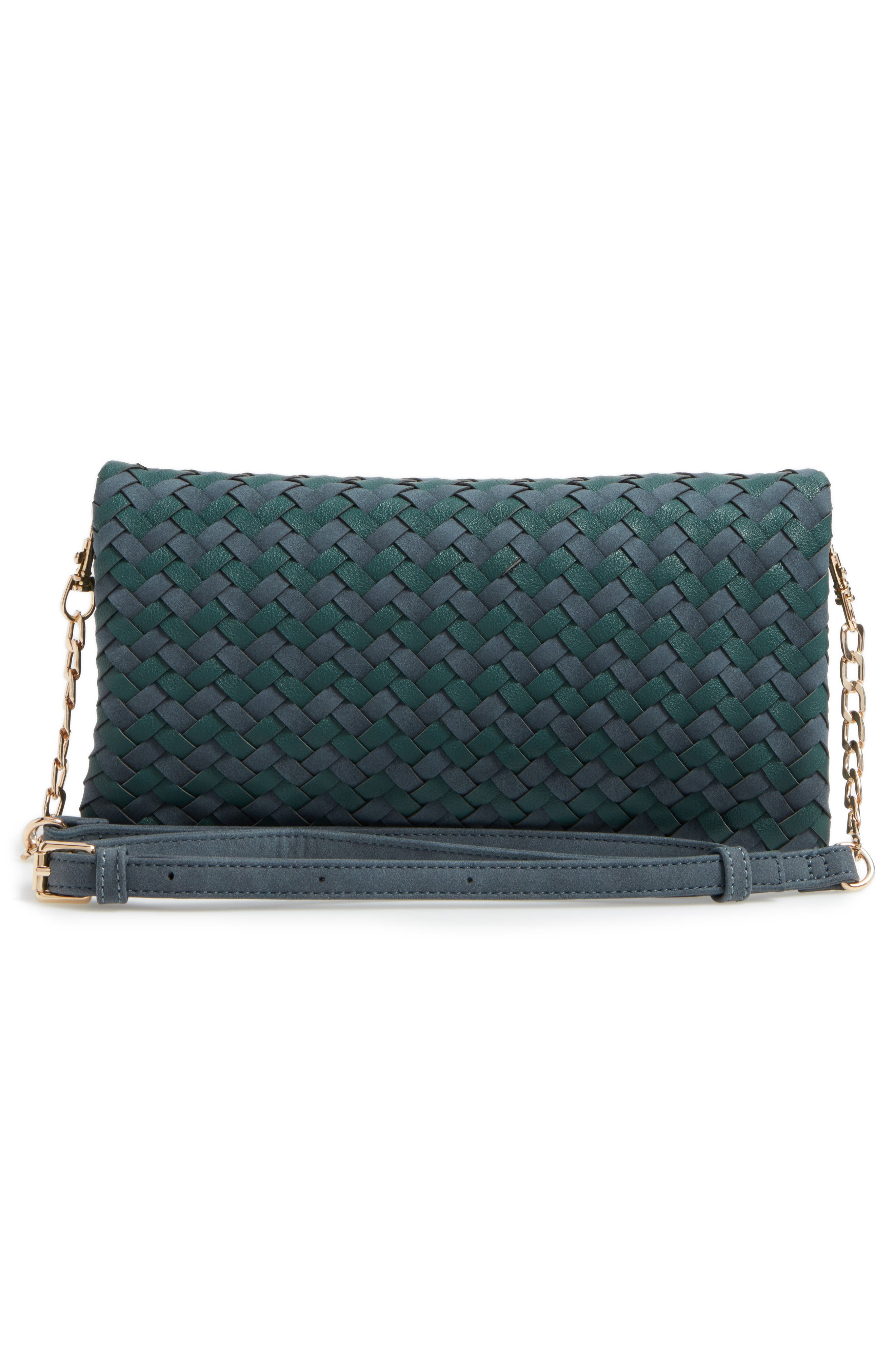 Marlee Woven Clutch,                             Alternate thumbnail 3, color,                             410
