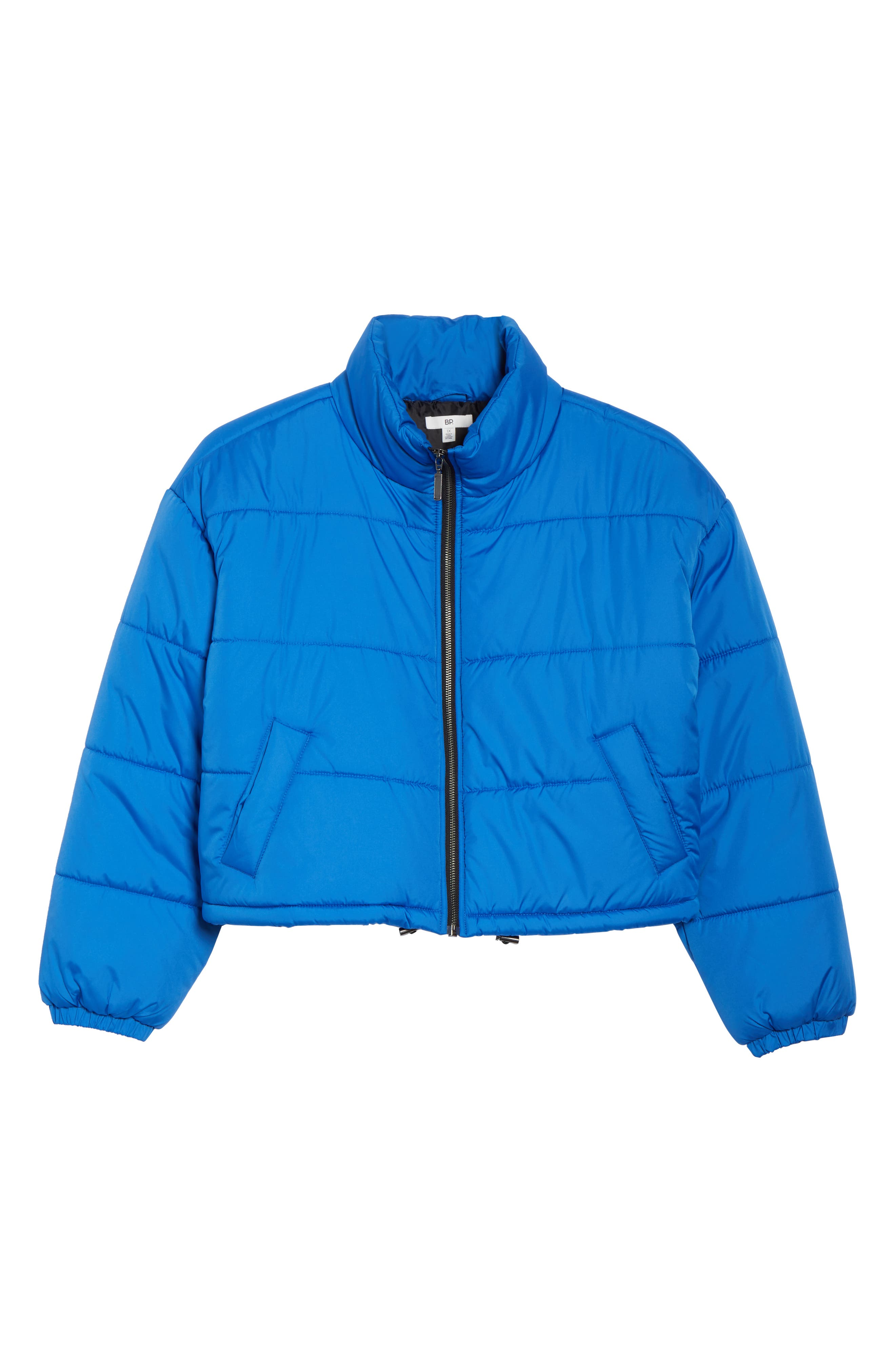 Crop Puffer Jacket,                             Alternate thumbnail 12, color,                             BLUE BOAT