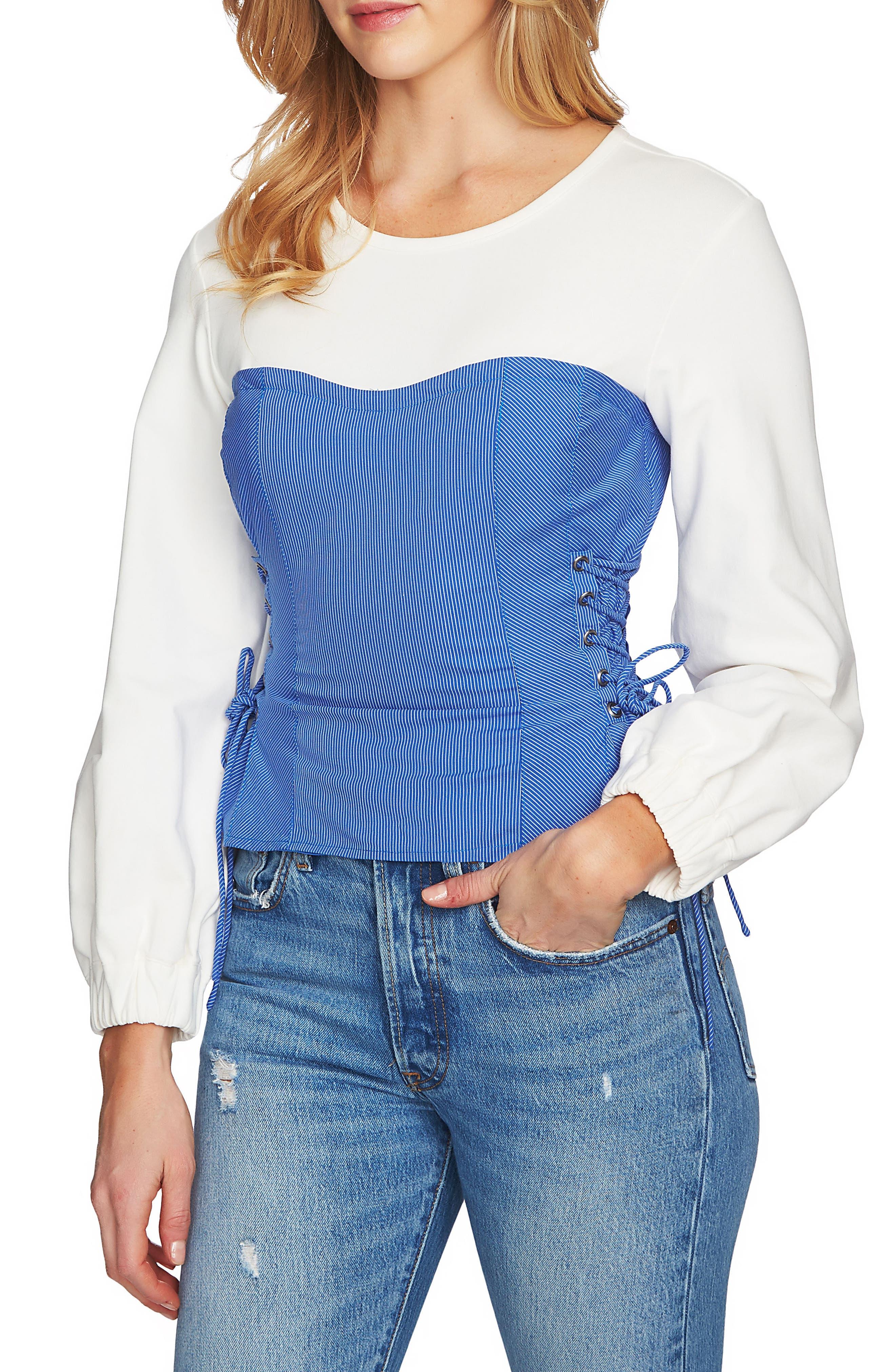 Lace-Up Corset Top,                         Main,                         color, 471