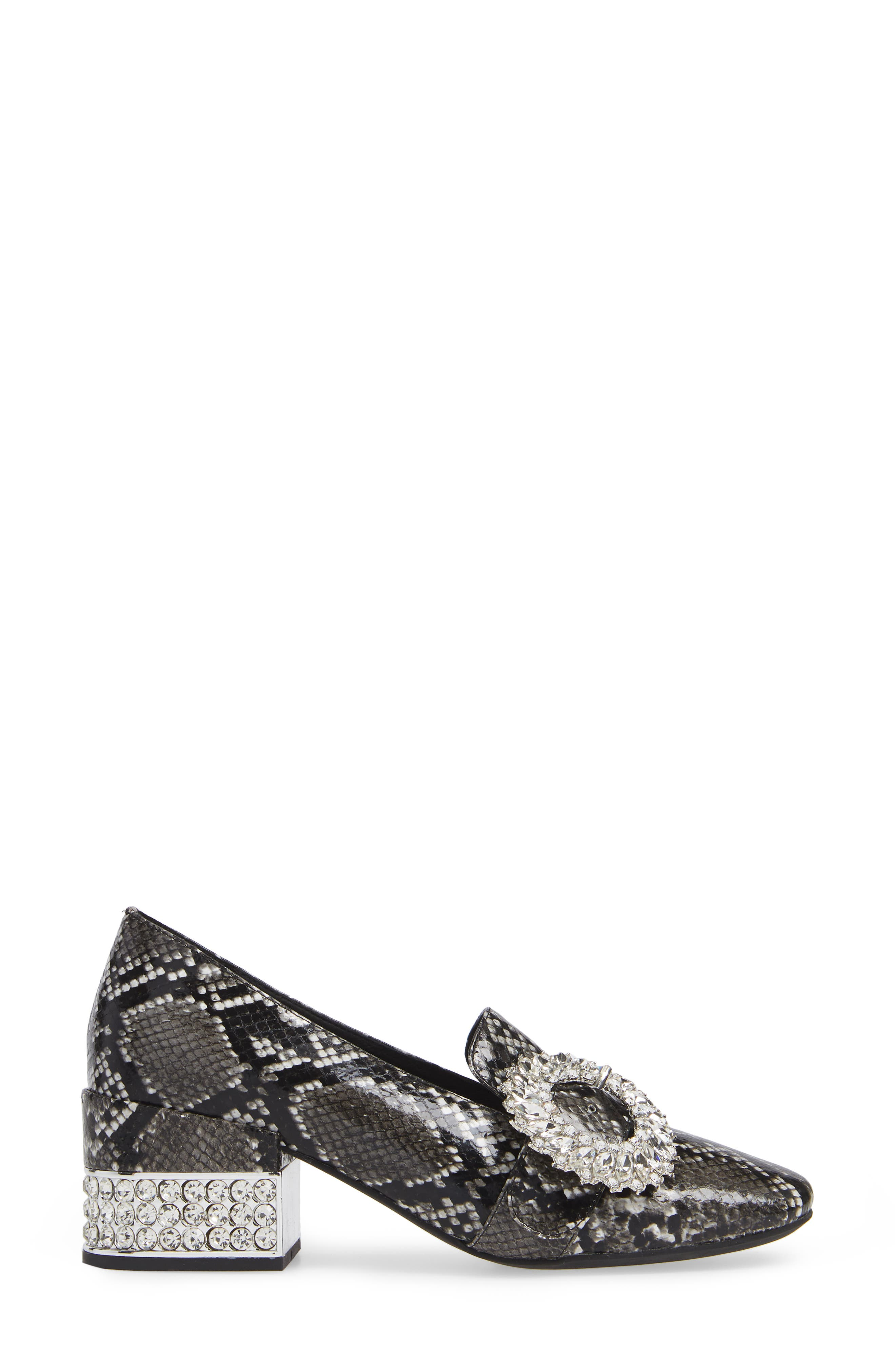 Louisa Pump,                             Alternate thumbnail 3, color,                             SNAKE PRINT LEATHER/ SILVER