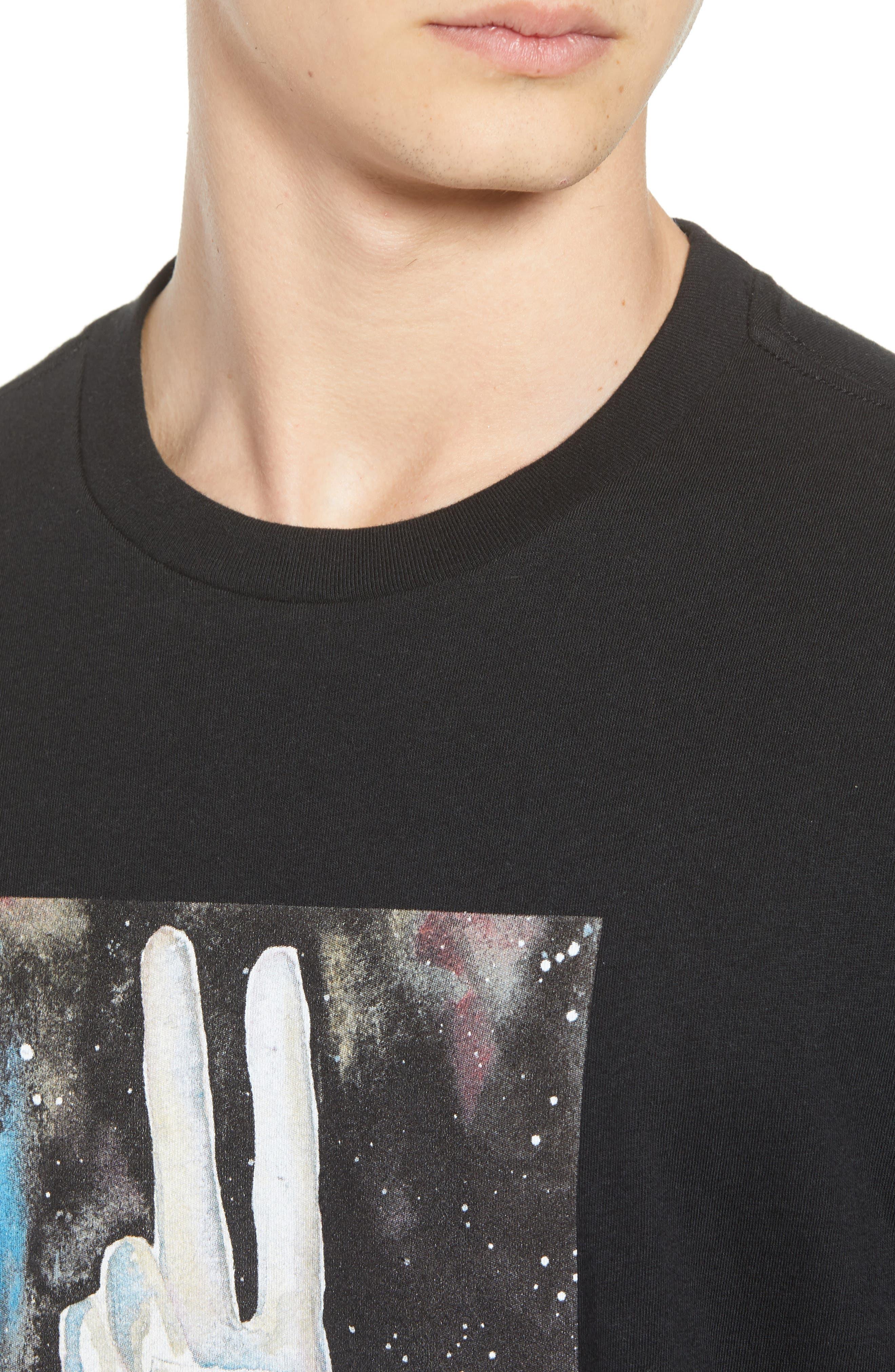 Blade Peace Graphic T-Shirt,                             Alternate thumbnail 4, color,                             BLACK