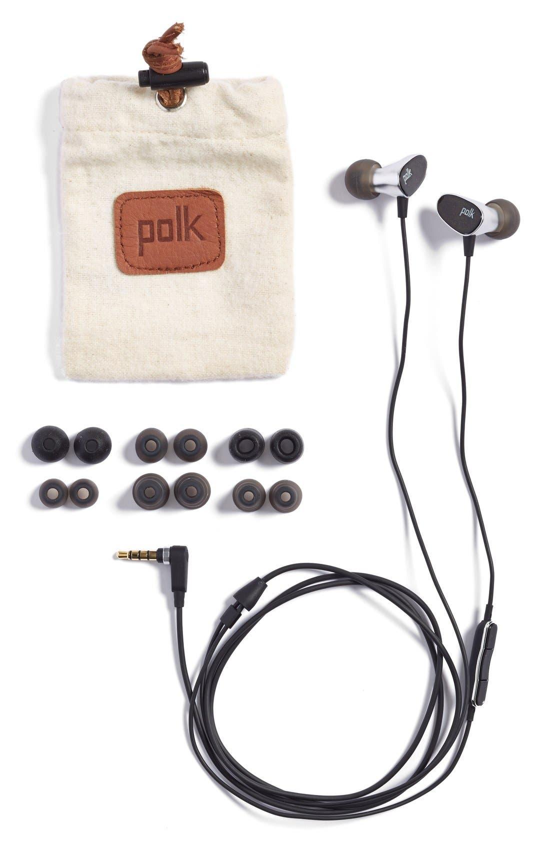 POLK AUDIO,                             'Nue Era' In-Ear Headphones,                             Alternate thumbnail 2, color,                             001