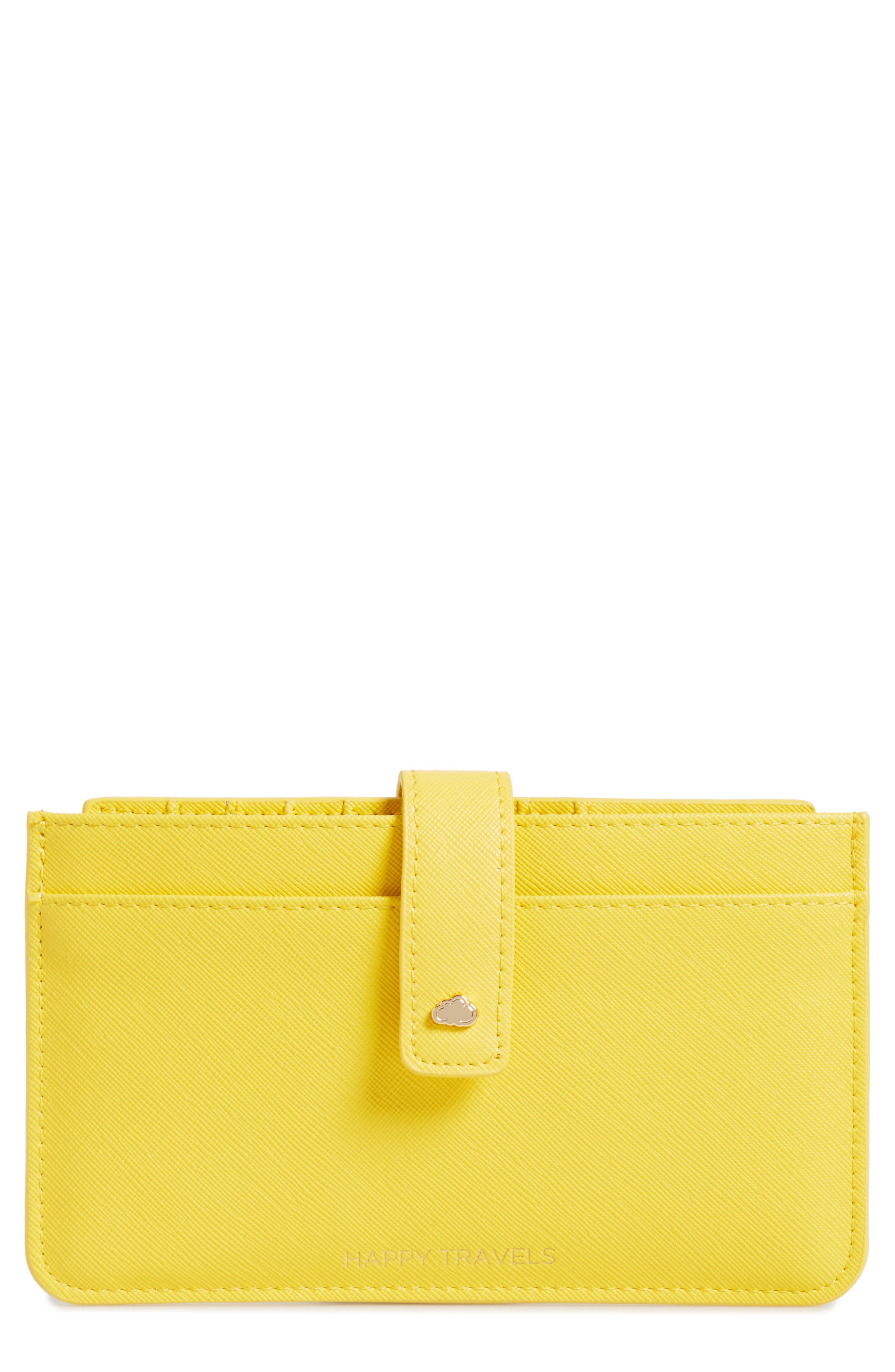 Happy Travels Faux Leather Document Wallet,                         Main,                         color, 700