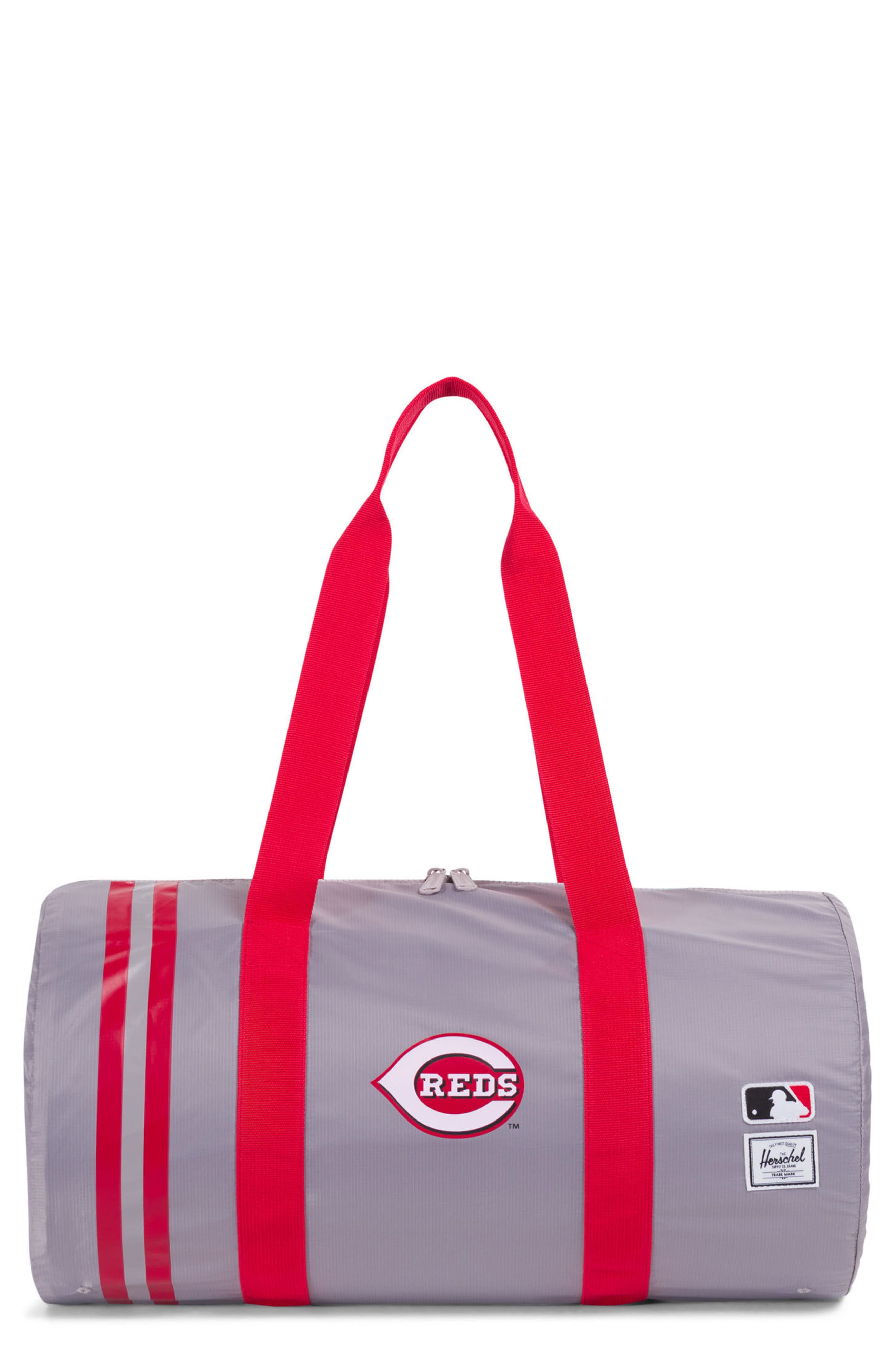Packable - MLB National League Duffel Bag,                             Main thumbnail 1, color,                             CINCINNATI REDS