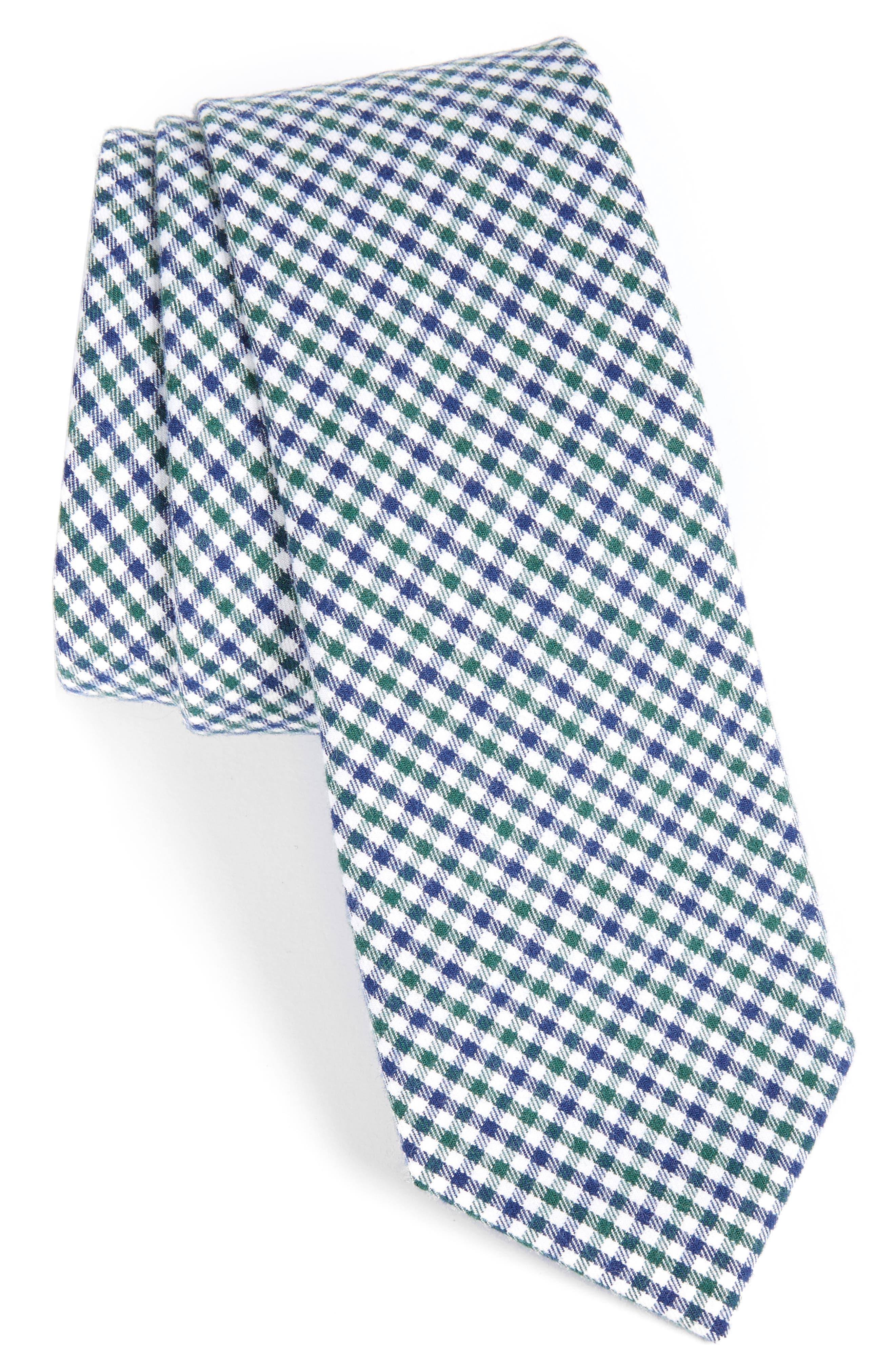 1950s Men's Ties – Vintage, Skinny, Knit, Pattern Neckties Mens 1901 Plaid Cotton Tie $25.00 AT vintagedancer.com