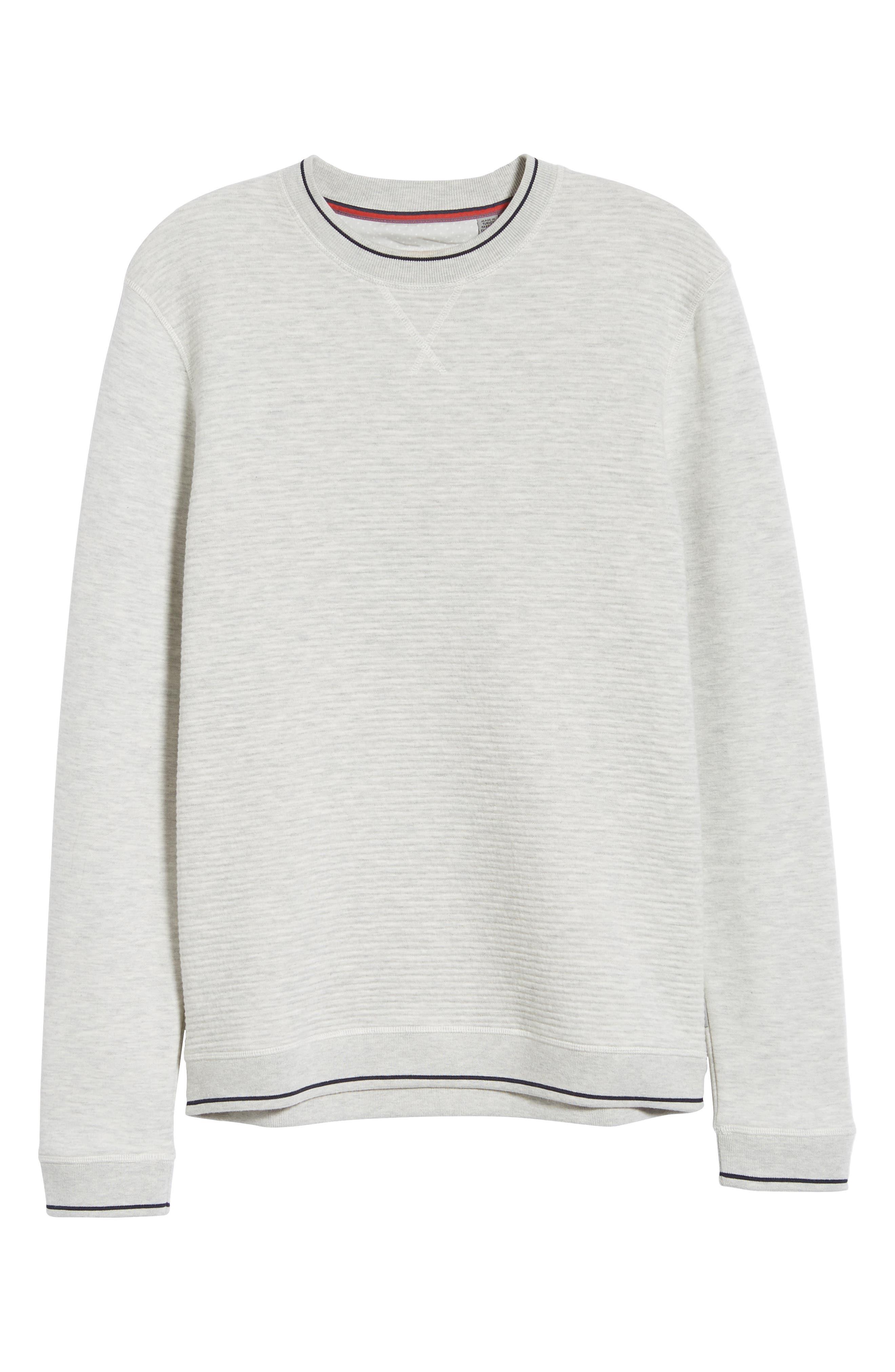 Magiics Slim Fit Quilted Sweatshirt,                             Alternate thumbnail 6, color,                             LIGHT GREY