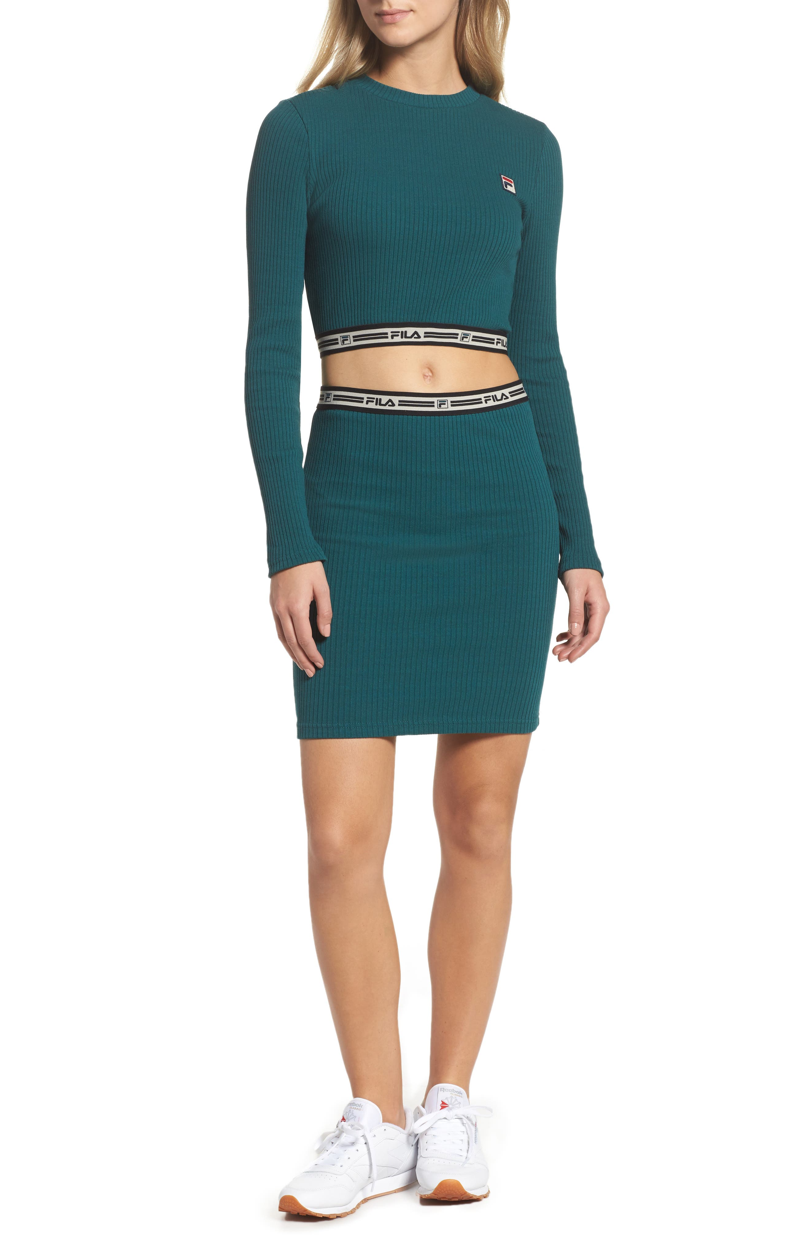 Colleen Long Sleeve Crop Top,                             Alternate thumbnail 8, color,                             440
