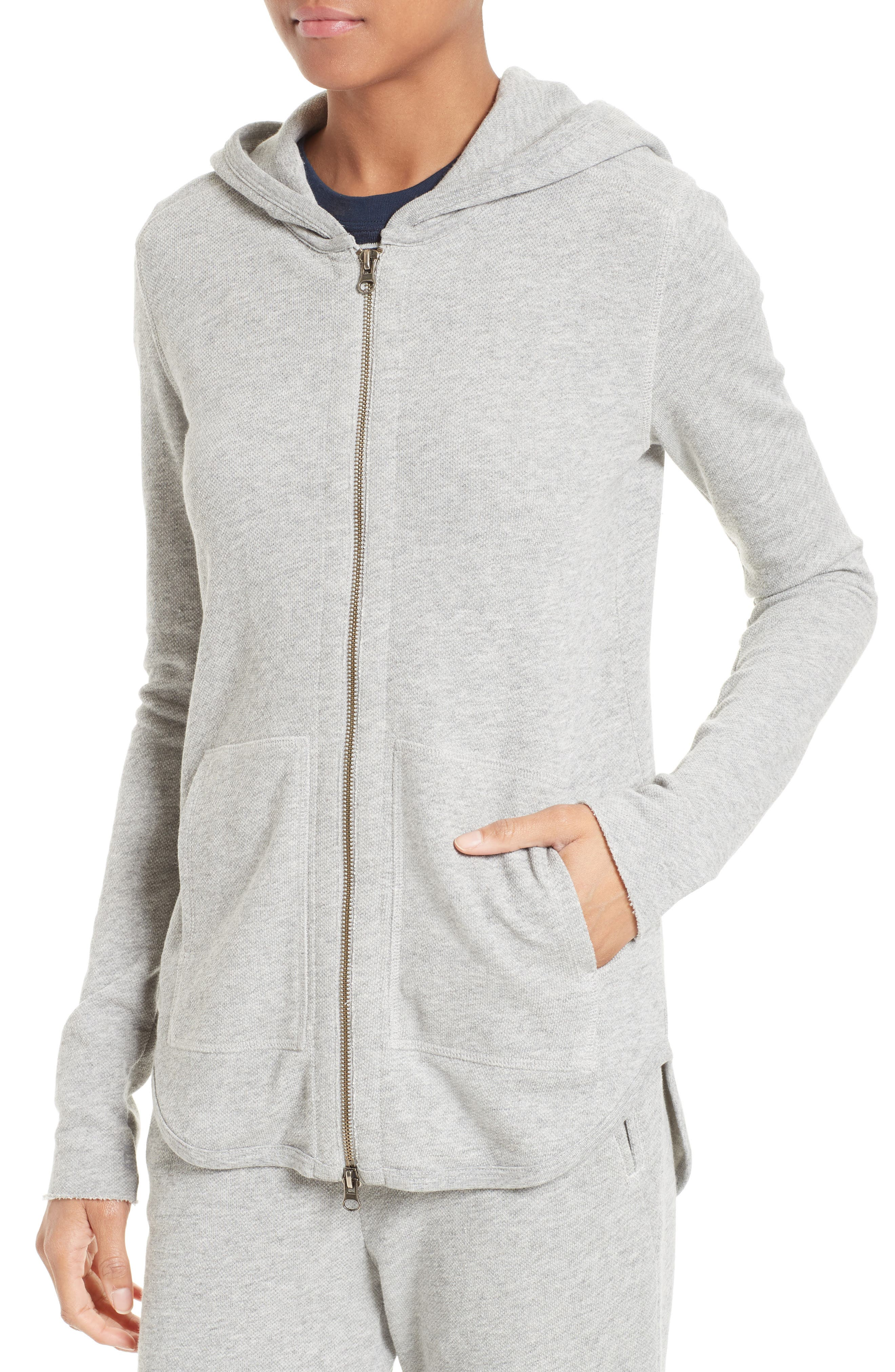 French Terry Zip Hoodie,                             Alternate thumbnail 4, color,                             050