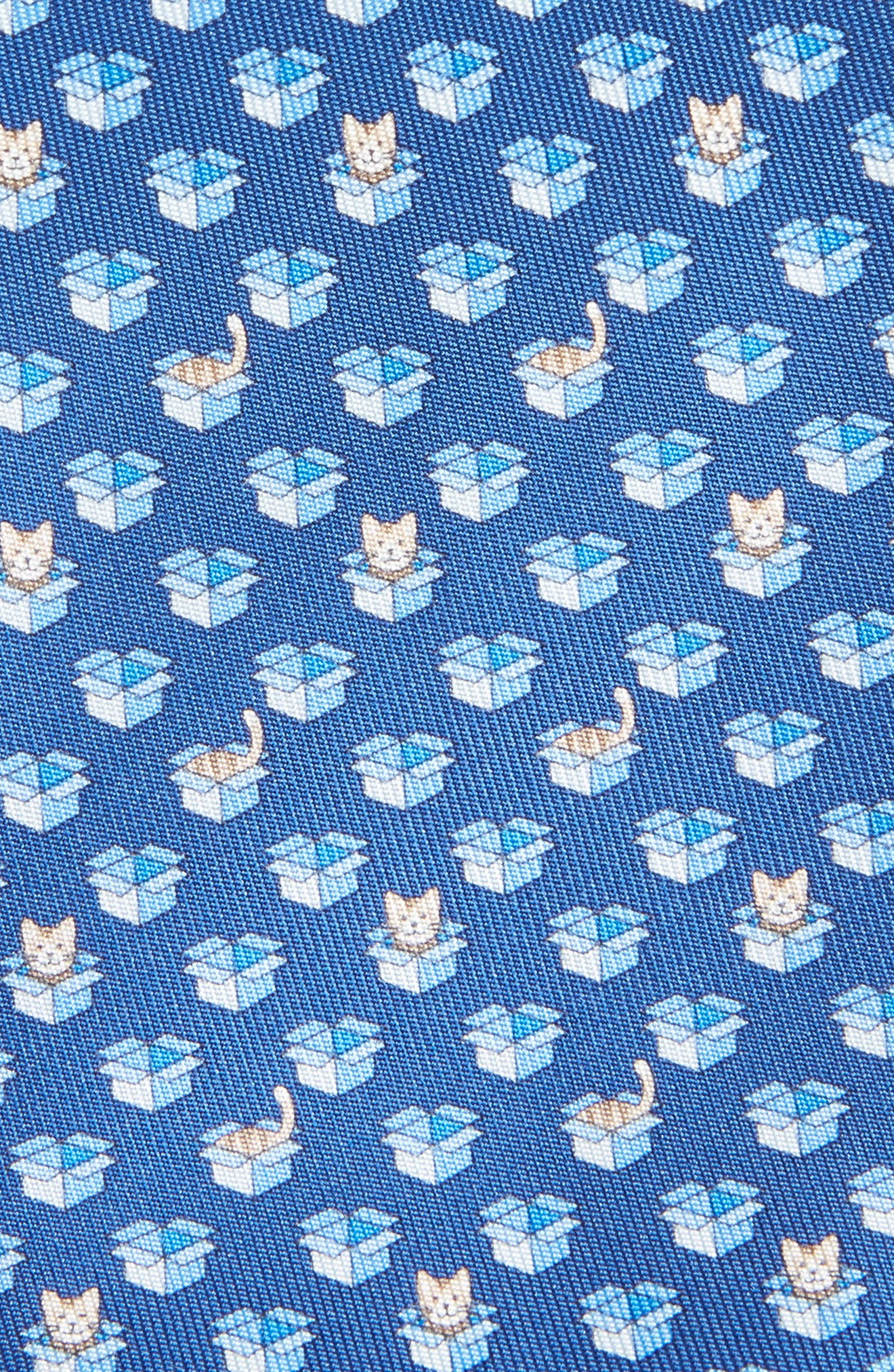 Felix Print Silk Tie,                             Alternate thumbnail 2, color,                             BLUE
