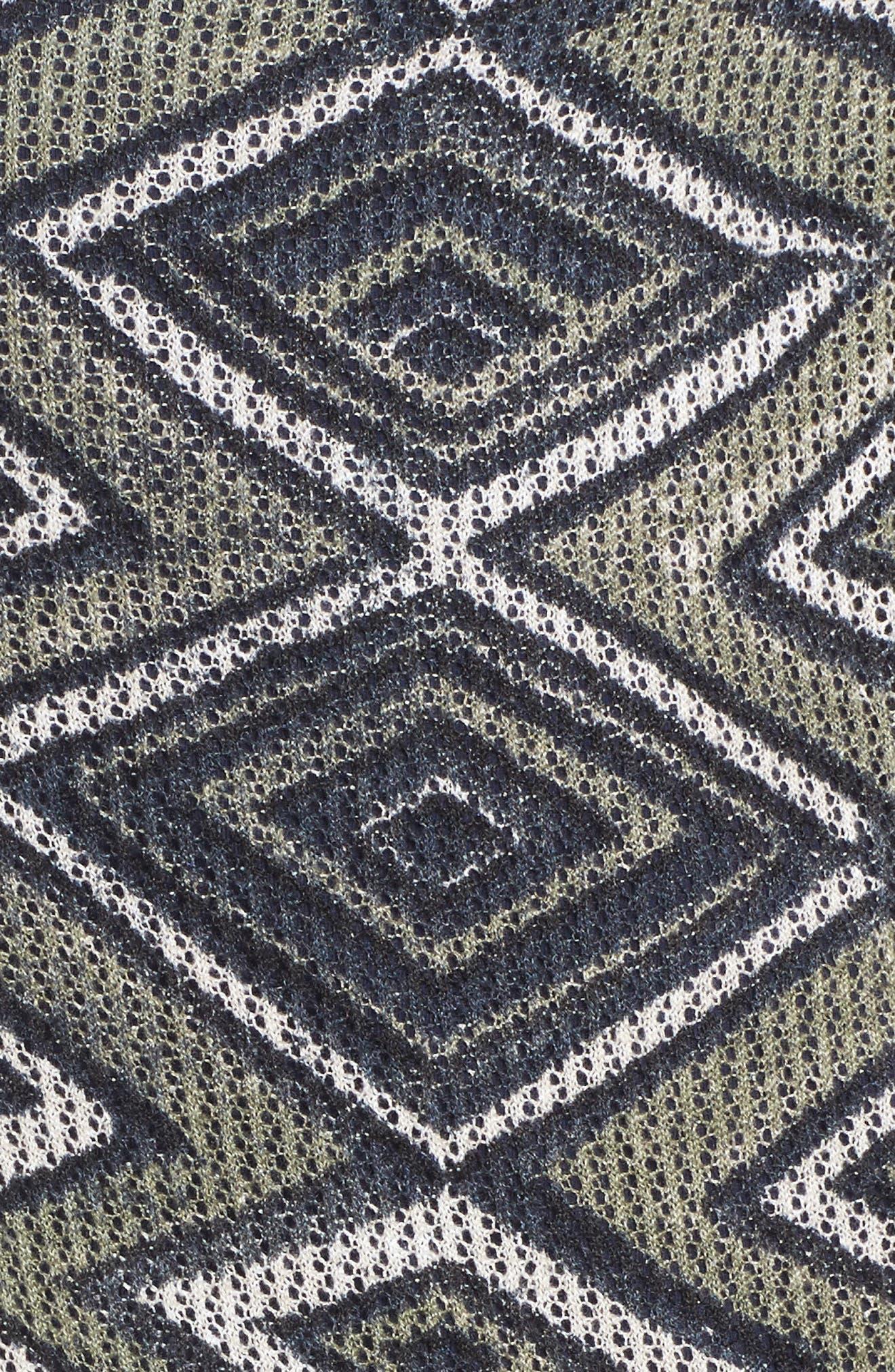 Mountain Dreams Lightweight Linen Blend Cardigan,                             Alternate thumbnail 5, color,                             MULTI